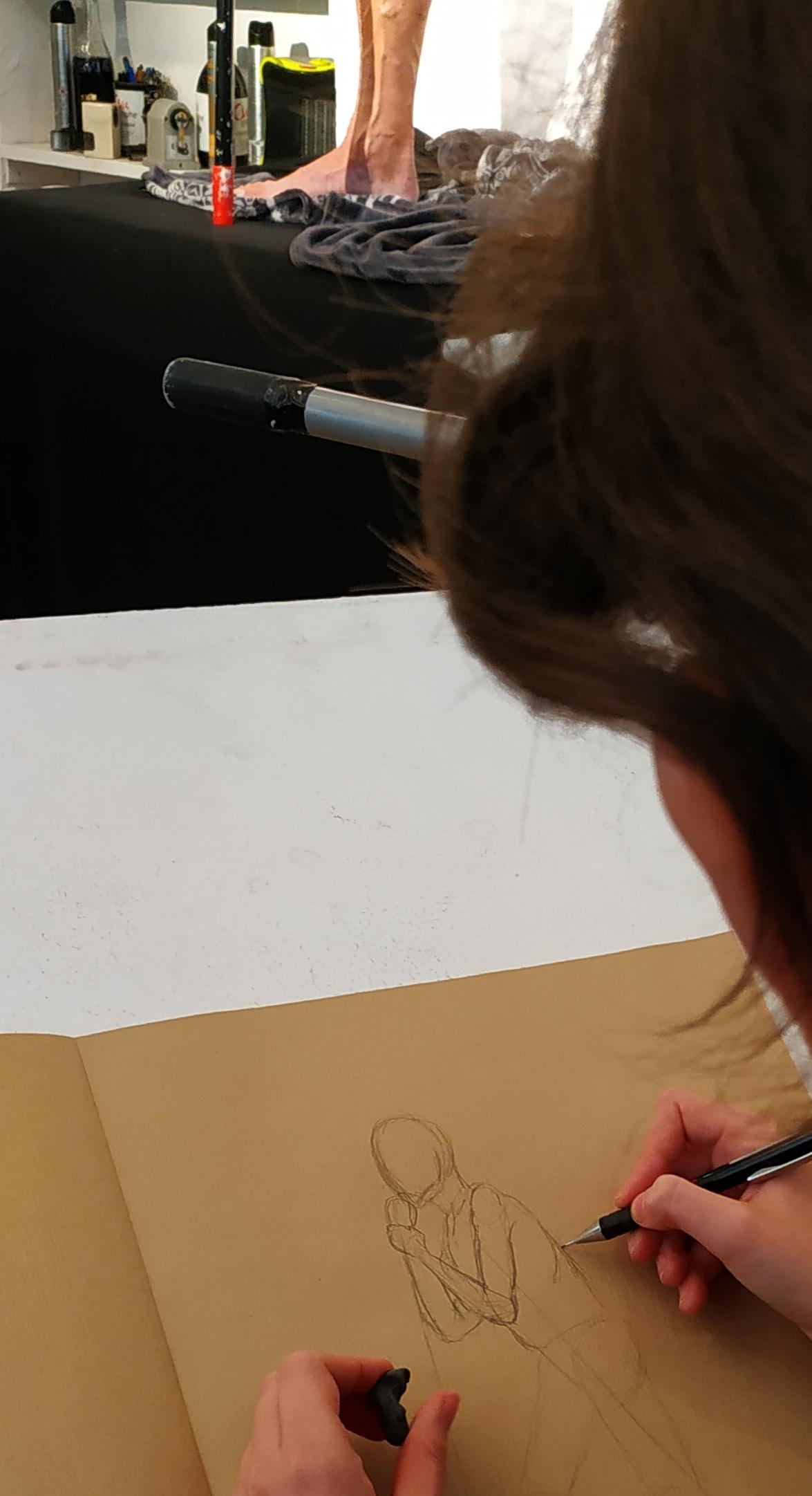 Dessiner un mod�le vivant  cours de dessin
