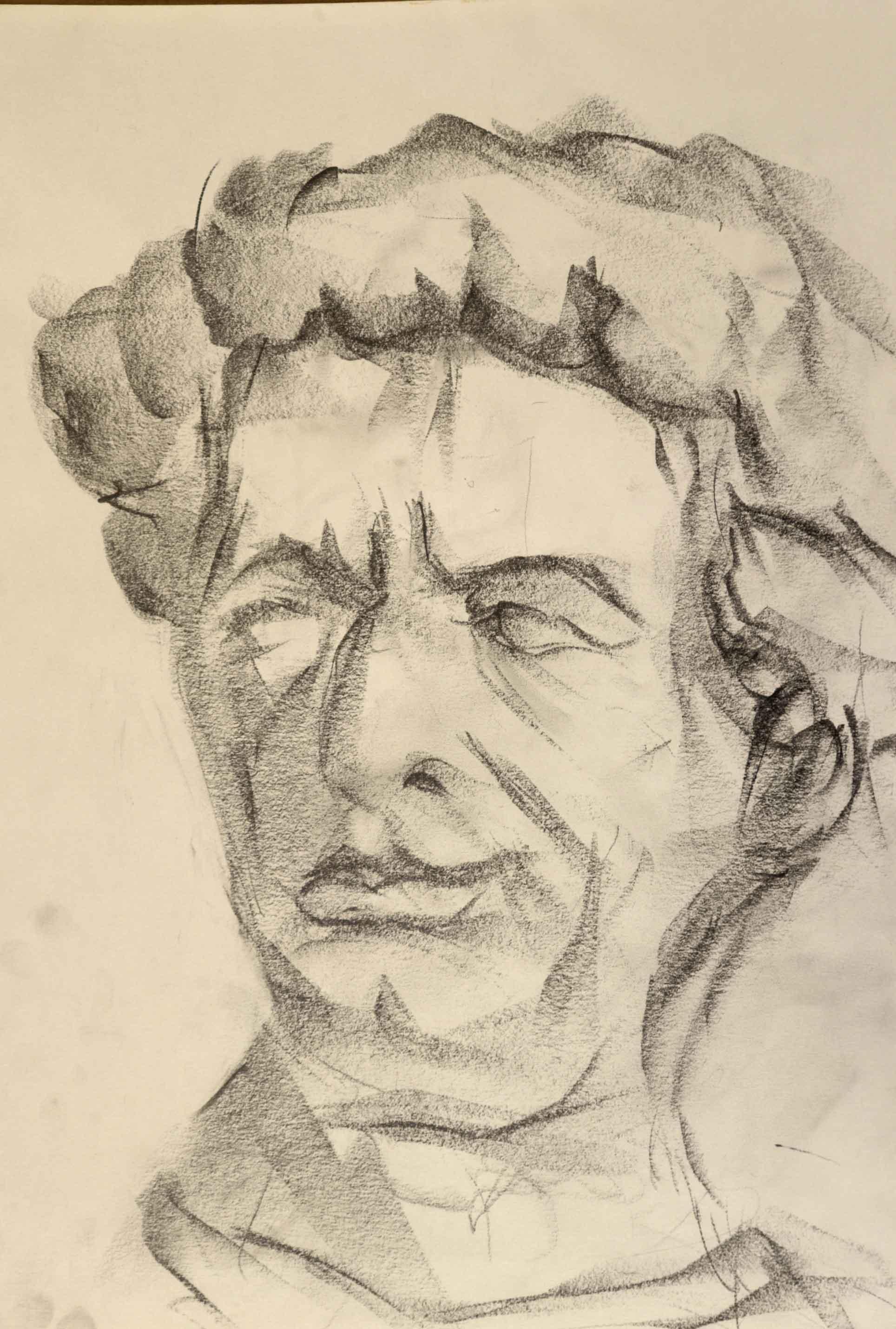 Portrait format raisin au graphique sur papier  cours de dessin