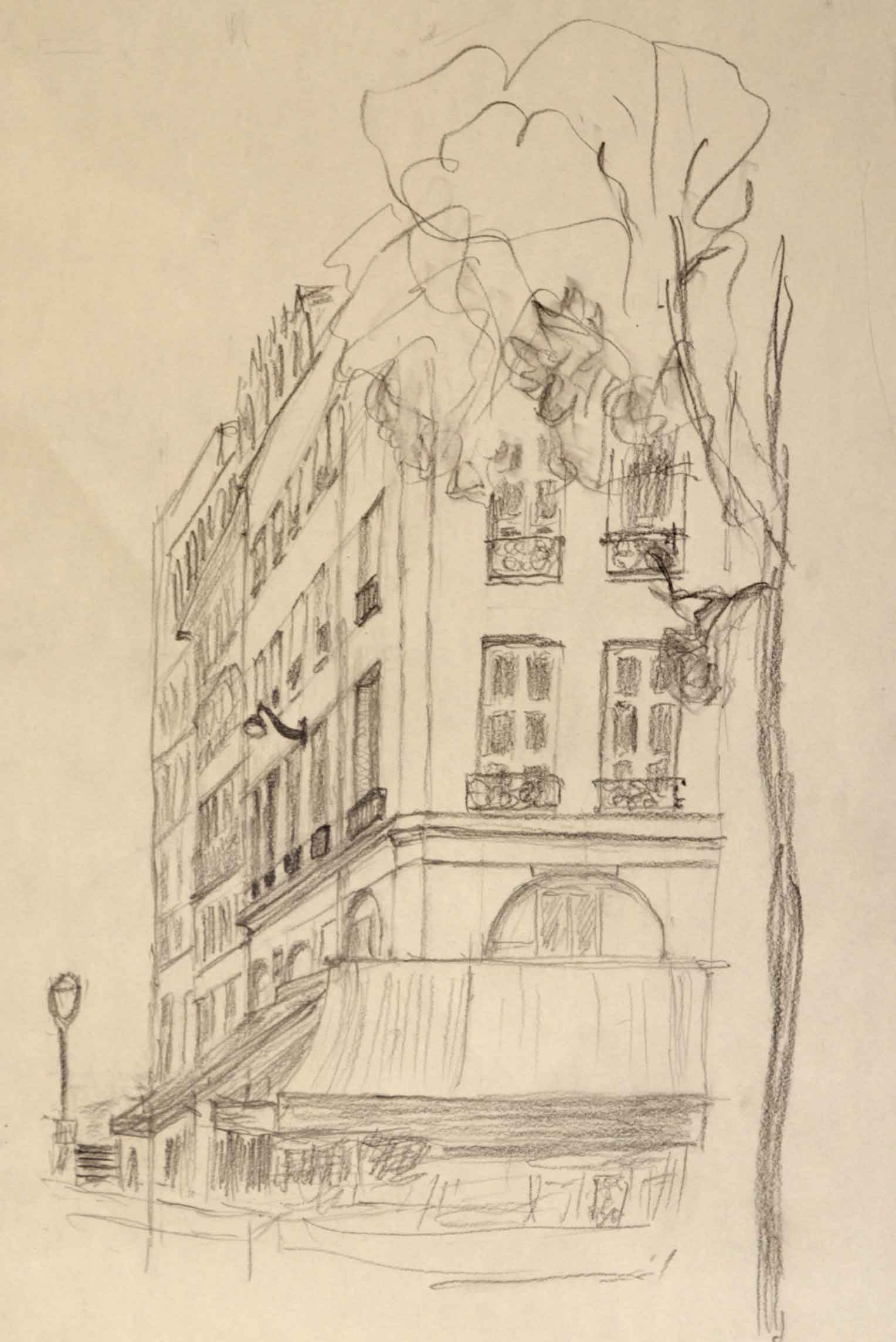 Dessin architecture crayon papier format A4  cours de dessin