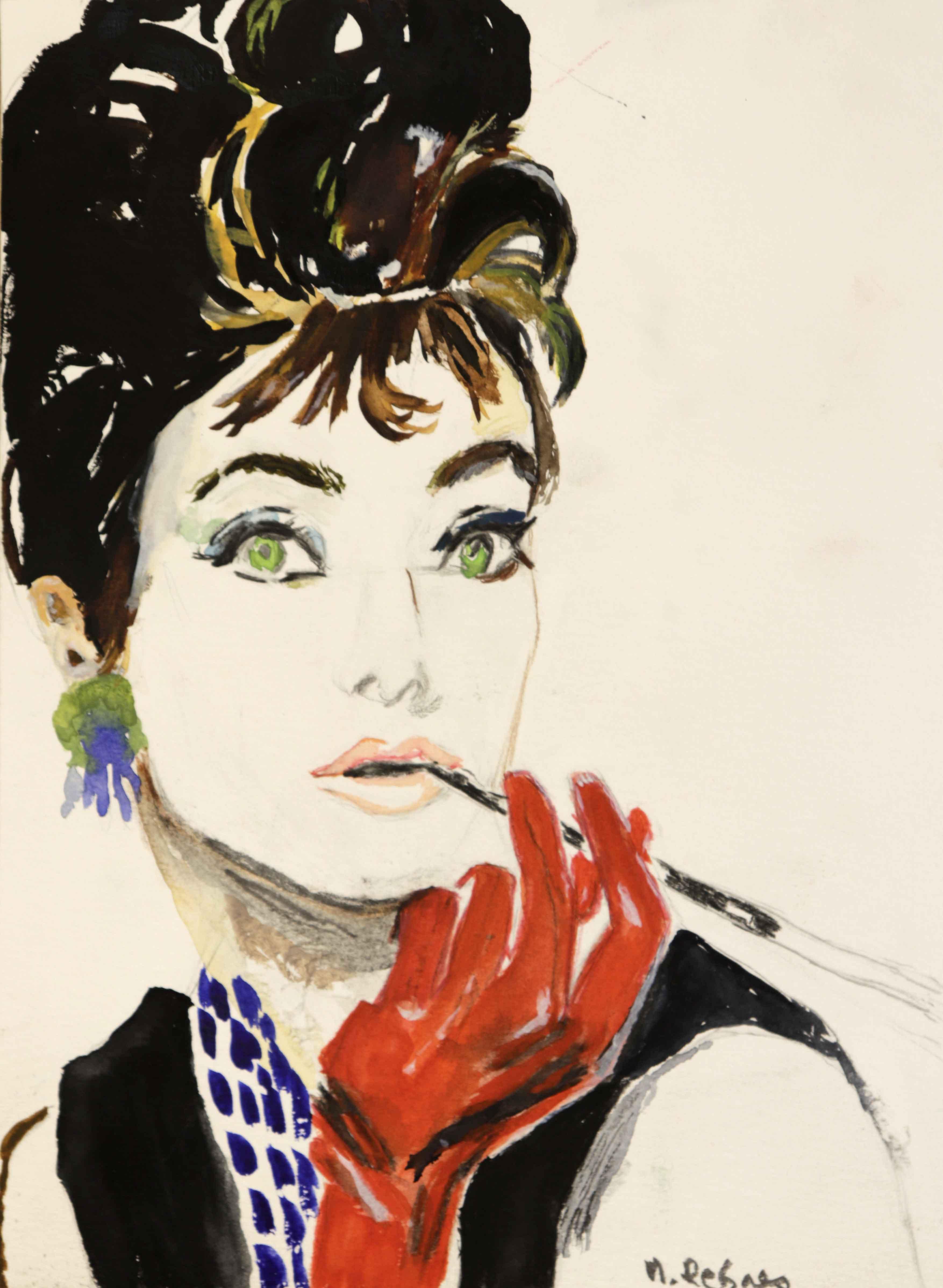Peinture gouache sur papier portraits  cours de dessin
