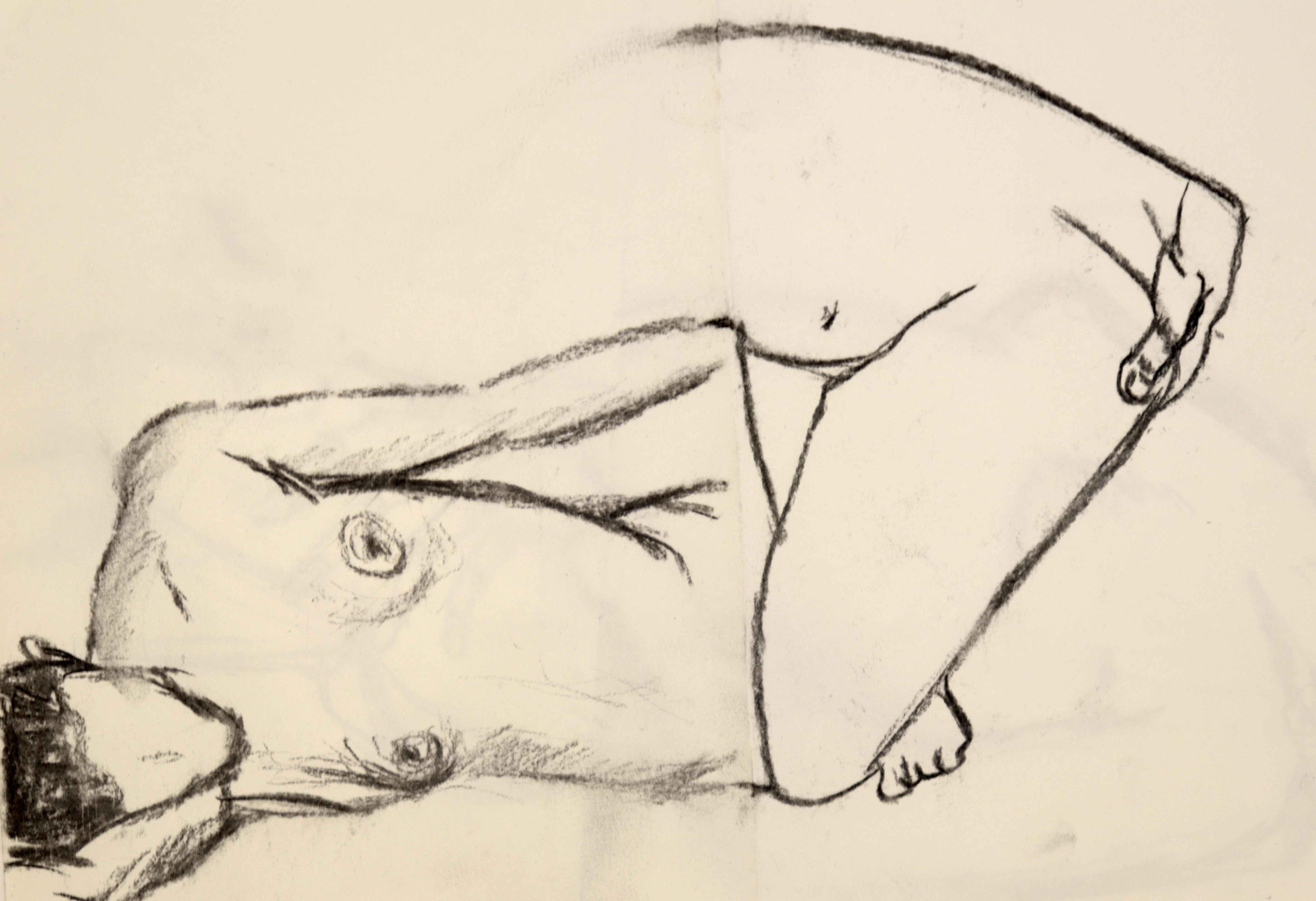 Mod�le vivant cubiste  cours de dessin