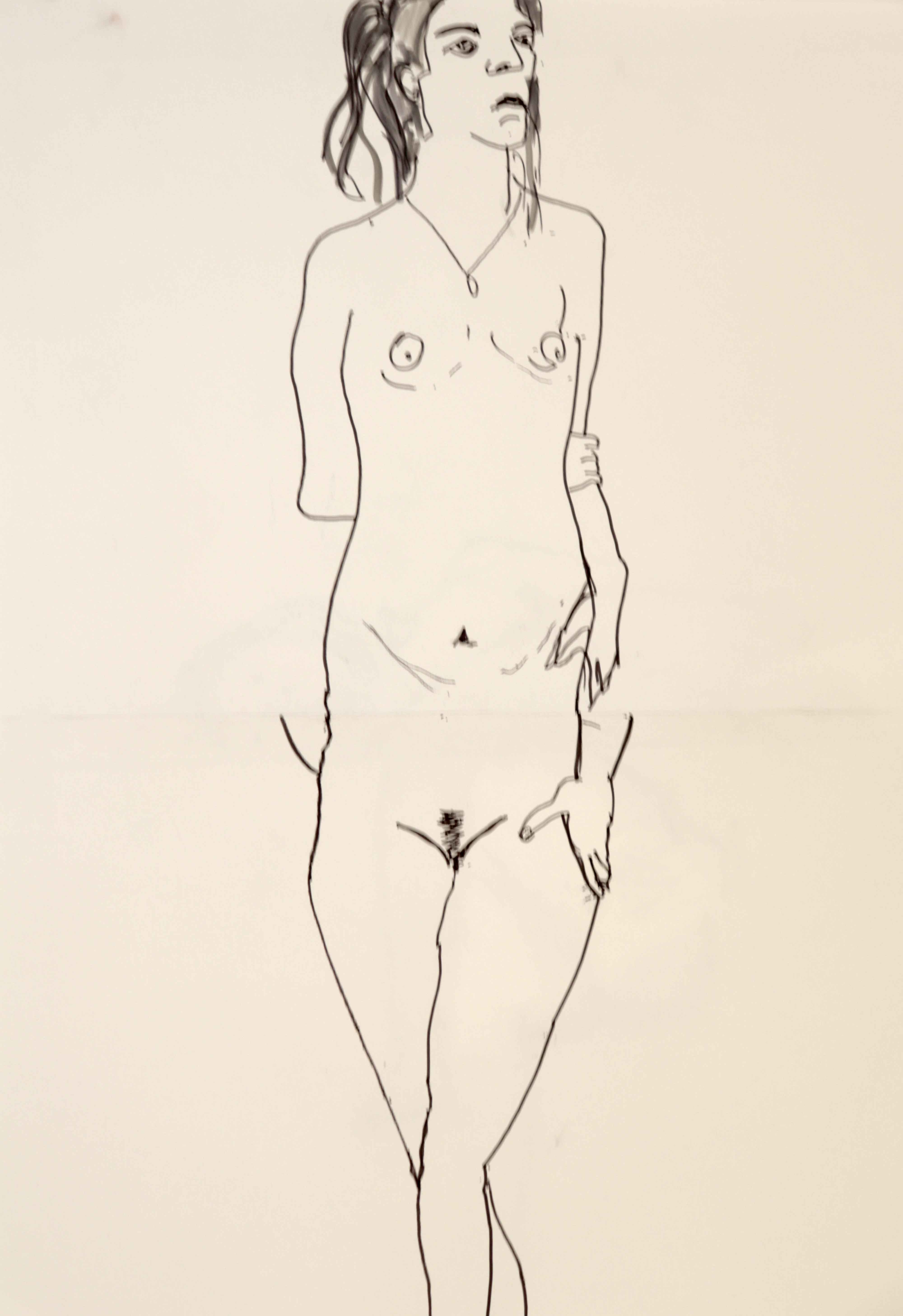 Mod�le vivant femme de vous cadavre exquis  cours de dessin