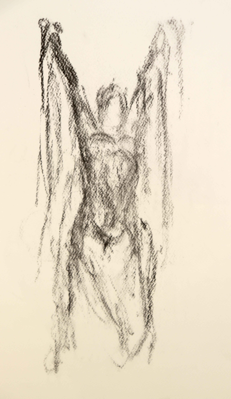 Dessin mod�le vivant au fusain sur papier  cours de dessin