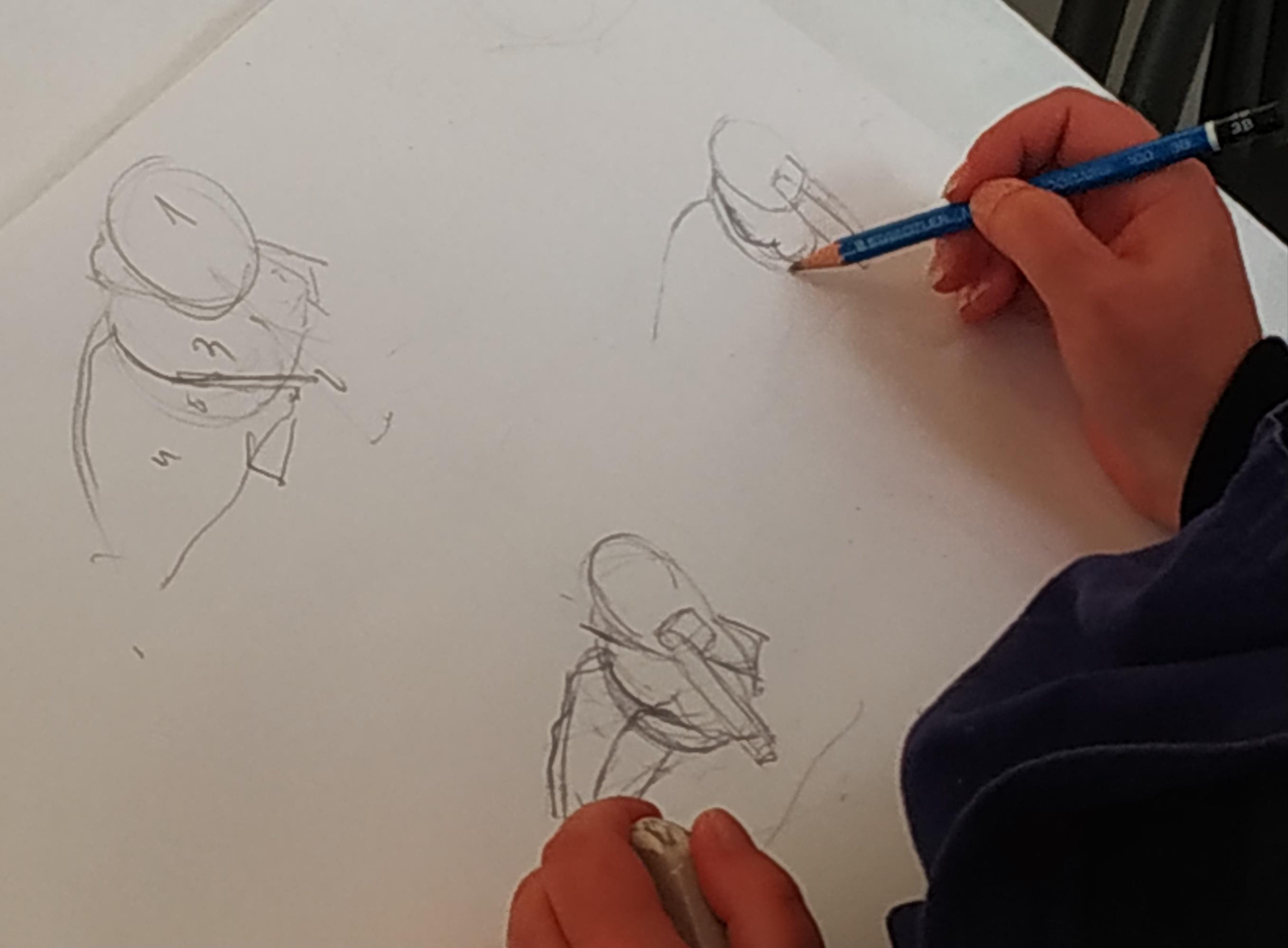 Croquis rapide mod�le vivant  cours de dessin