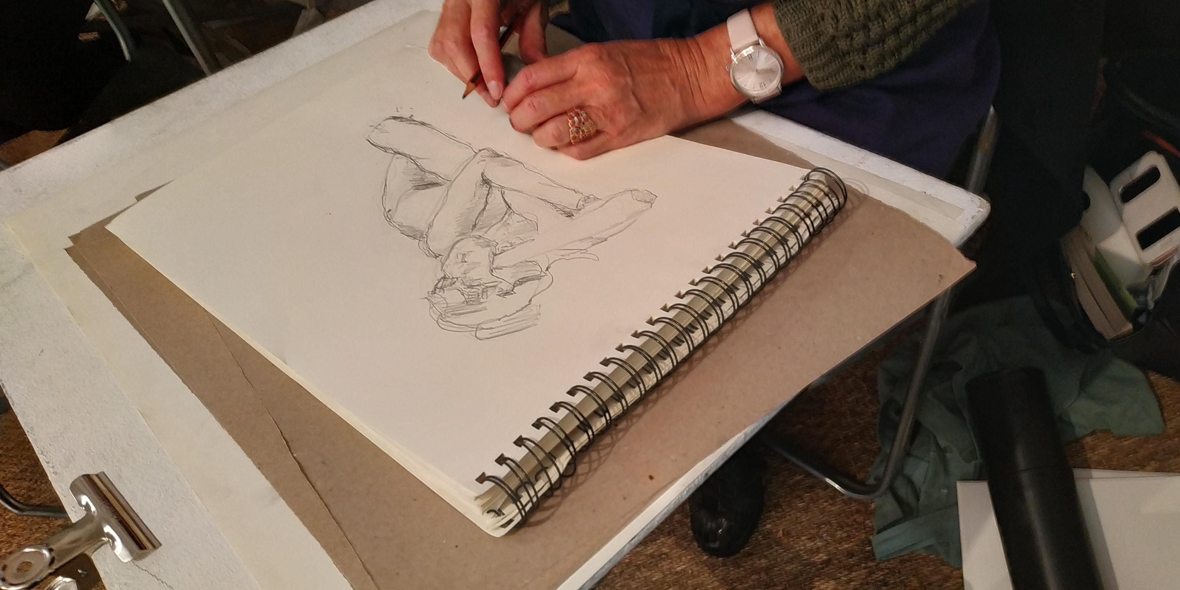 Dessin Croquis mod�le vivant Allong�  cours de dessin