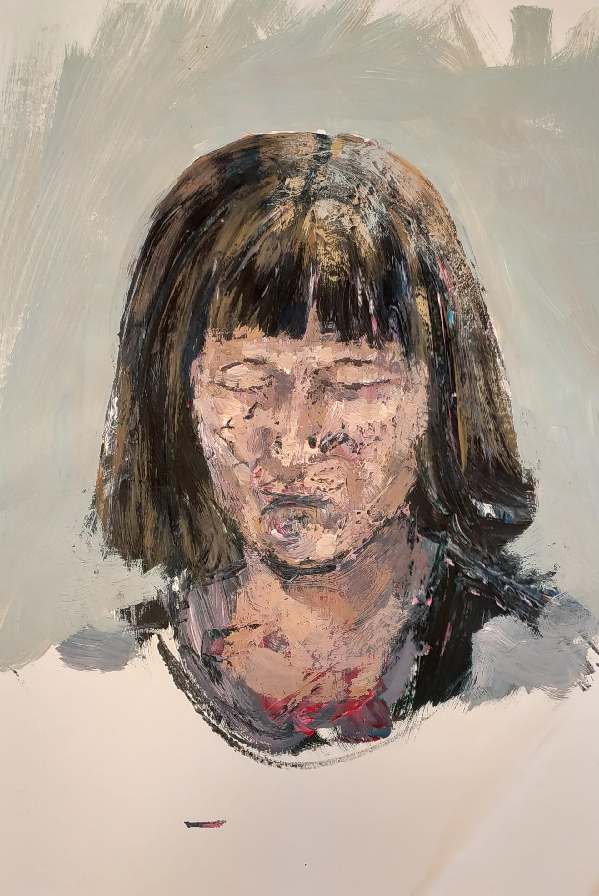 Peinture acrylique portraits  cours de dessin