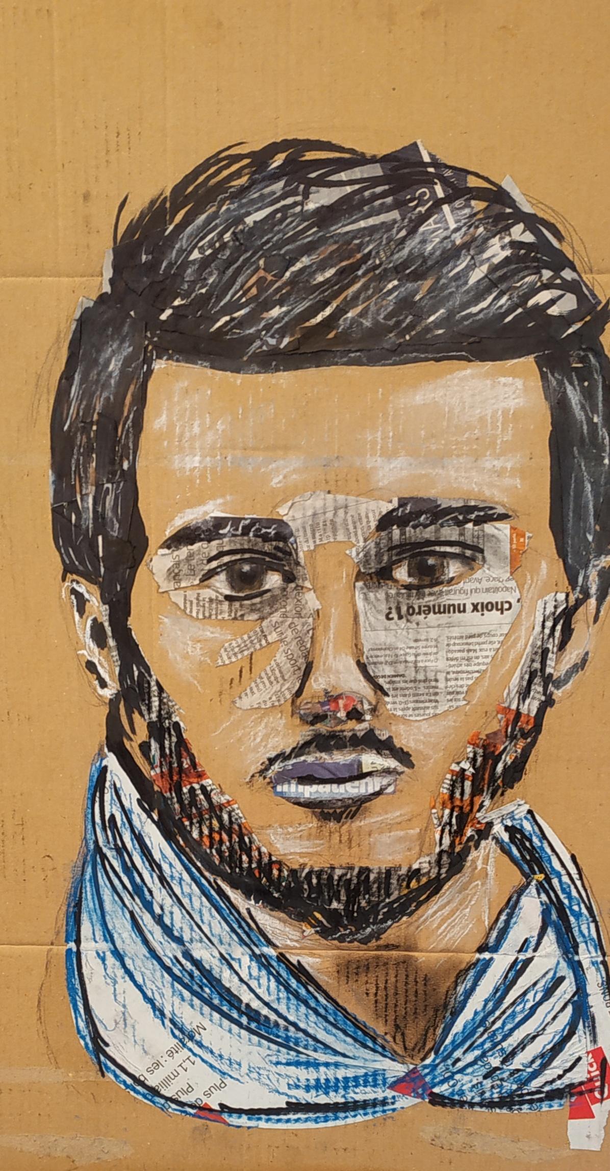 Collage portraits  cours de dessin