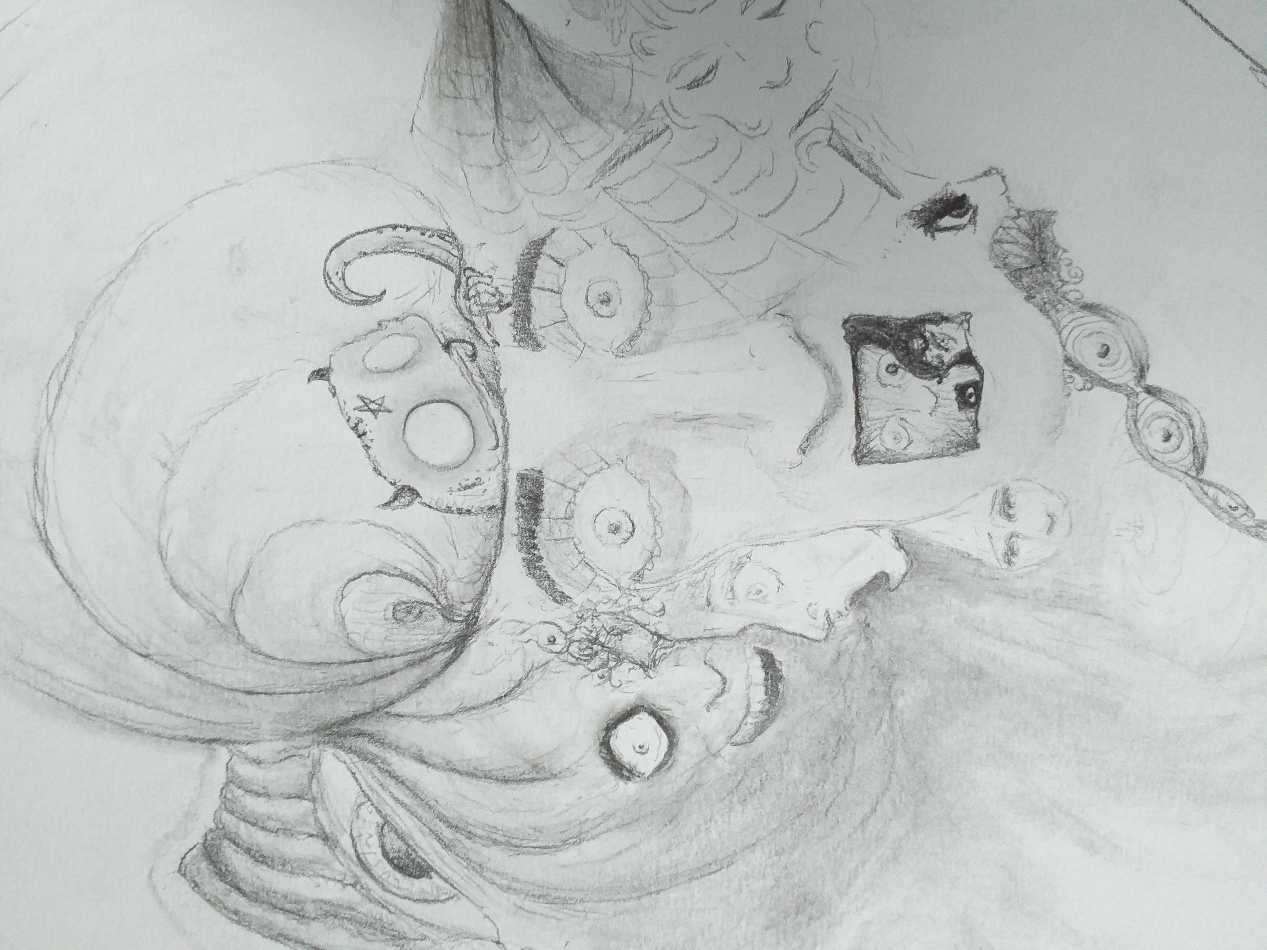 Fantasmagorie dessin graphite  cours de dessin