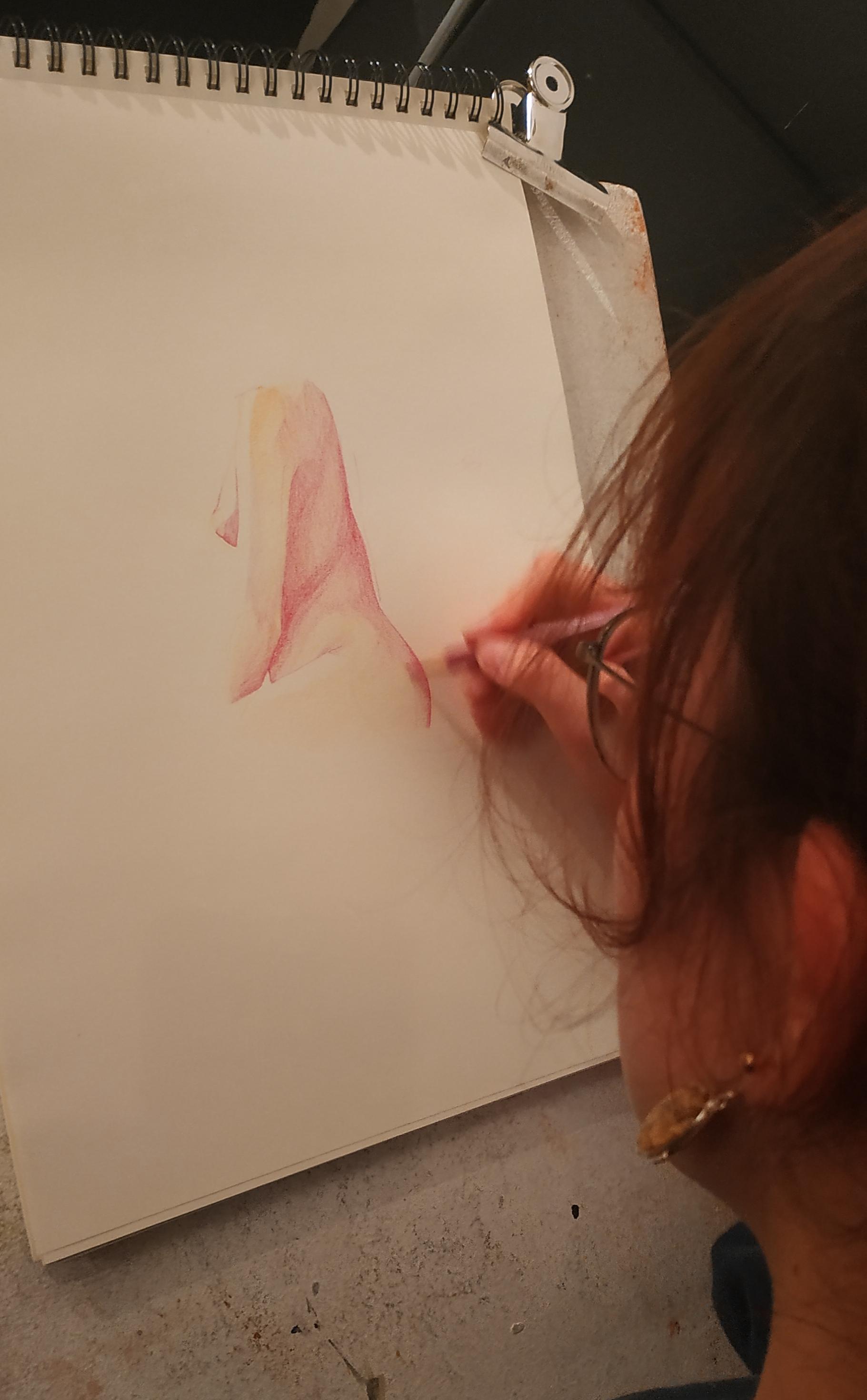 Esquisse crayon de couleur  cours de dessin
