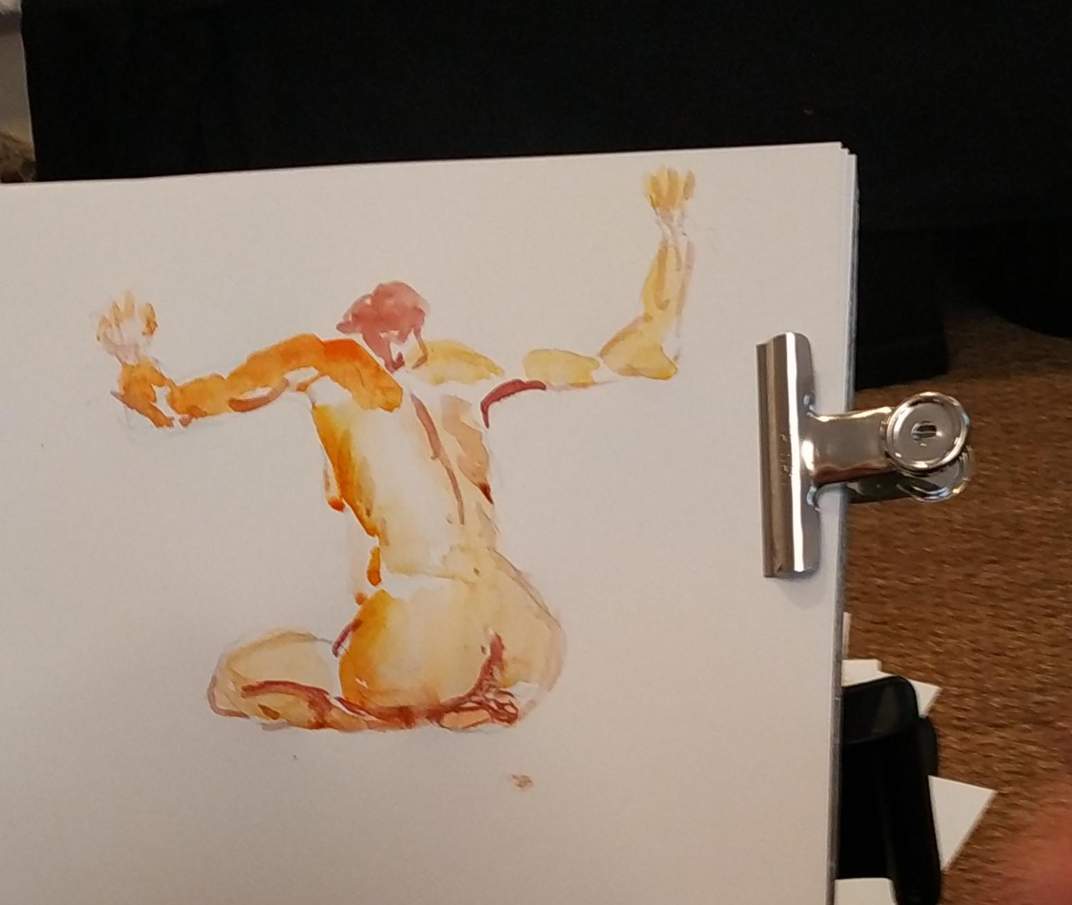 Dessin aquarelle Orange  cours de dessin