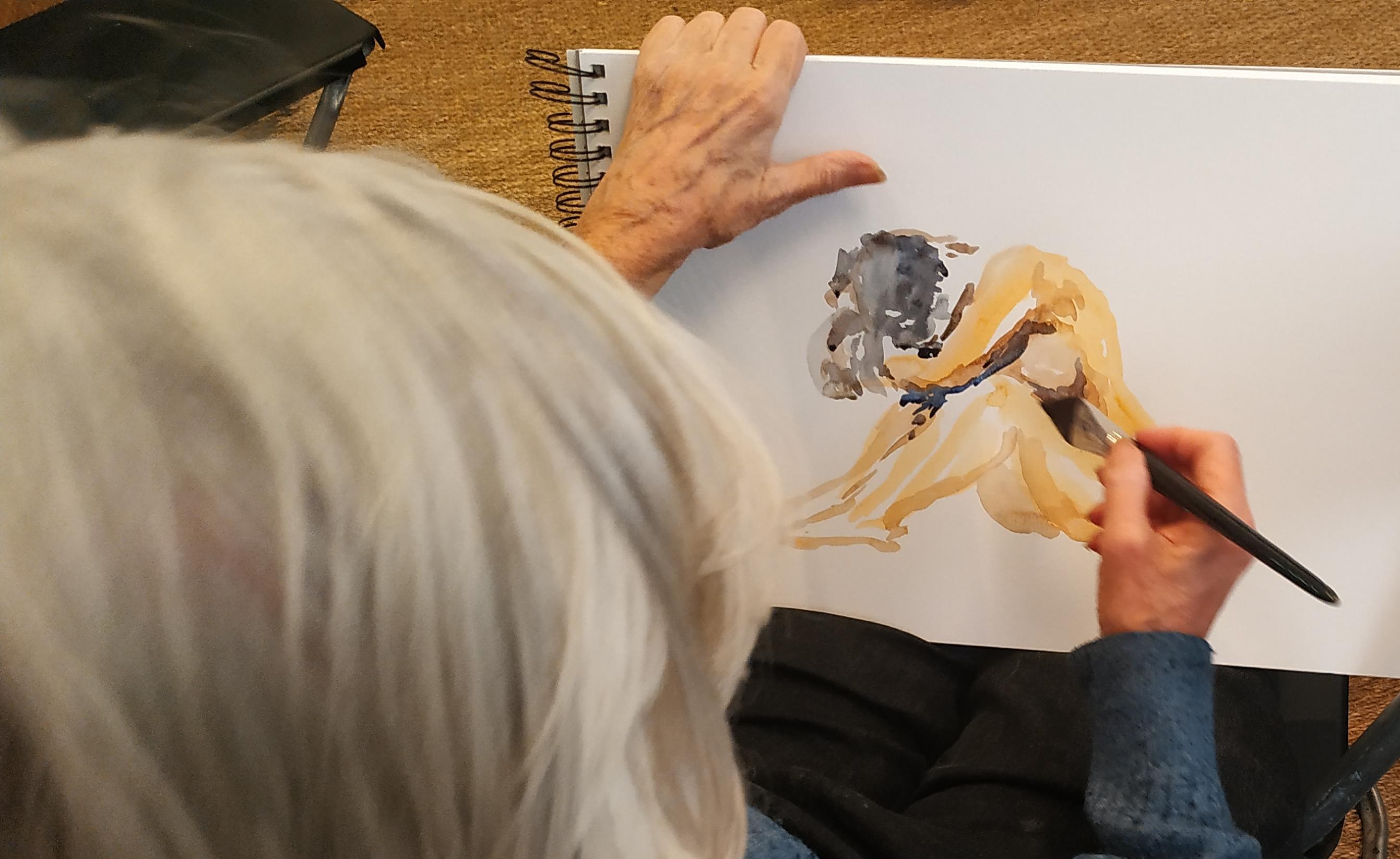 Croquis aquarelle couleurs  cours de dessin