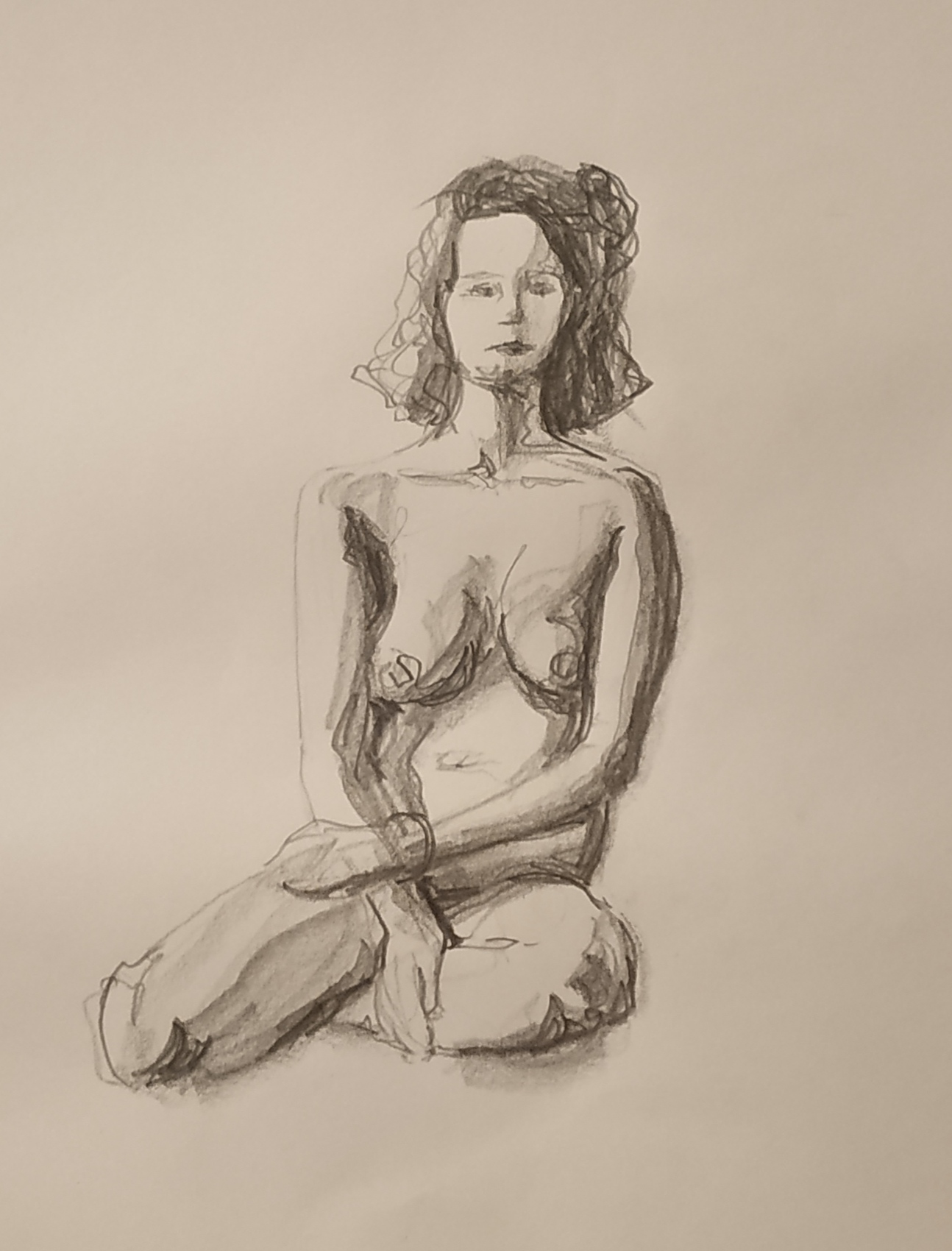Croquis sur le vif au graphite sur papier  cours de dessin