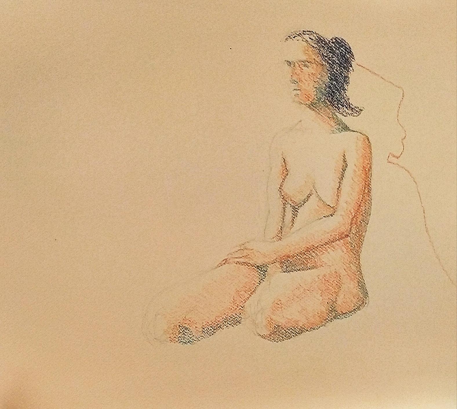 Dessin en couleurs pointillisme trame sur papier  cours de dessin