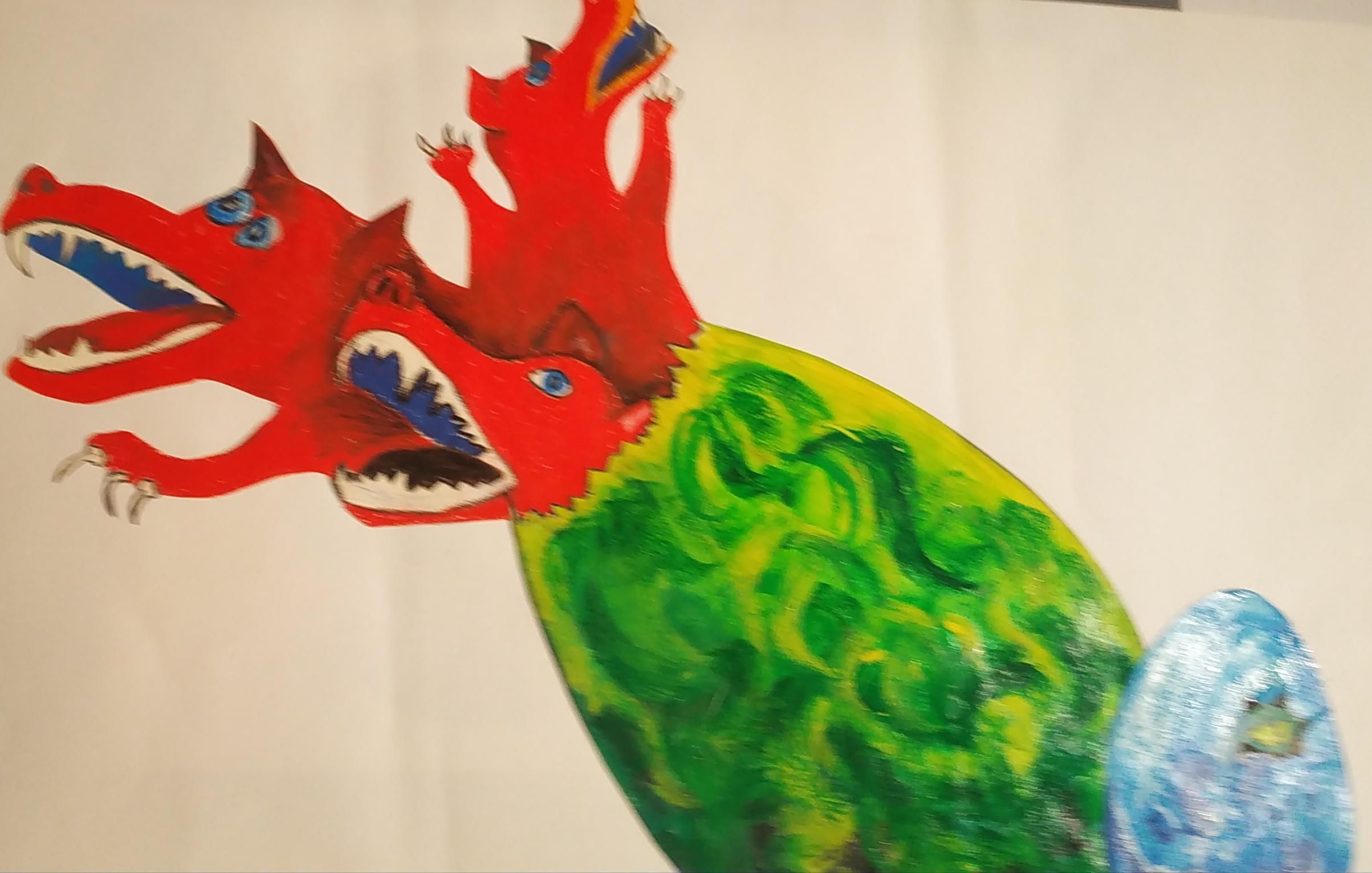 dessin oeuf de dragon vert   cours de dessin