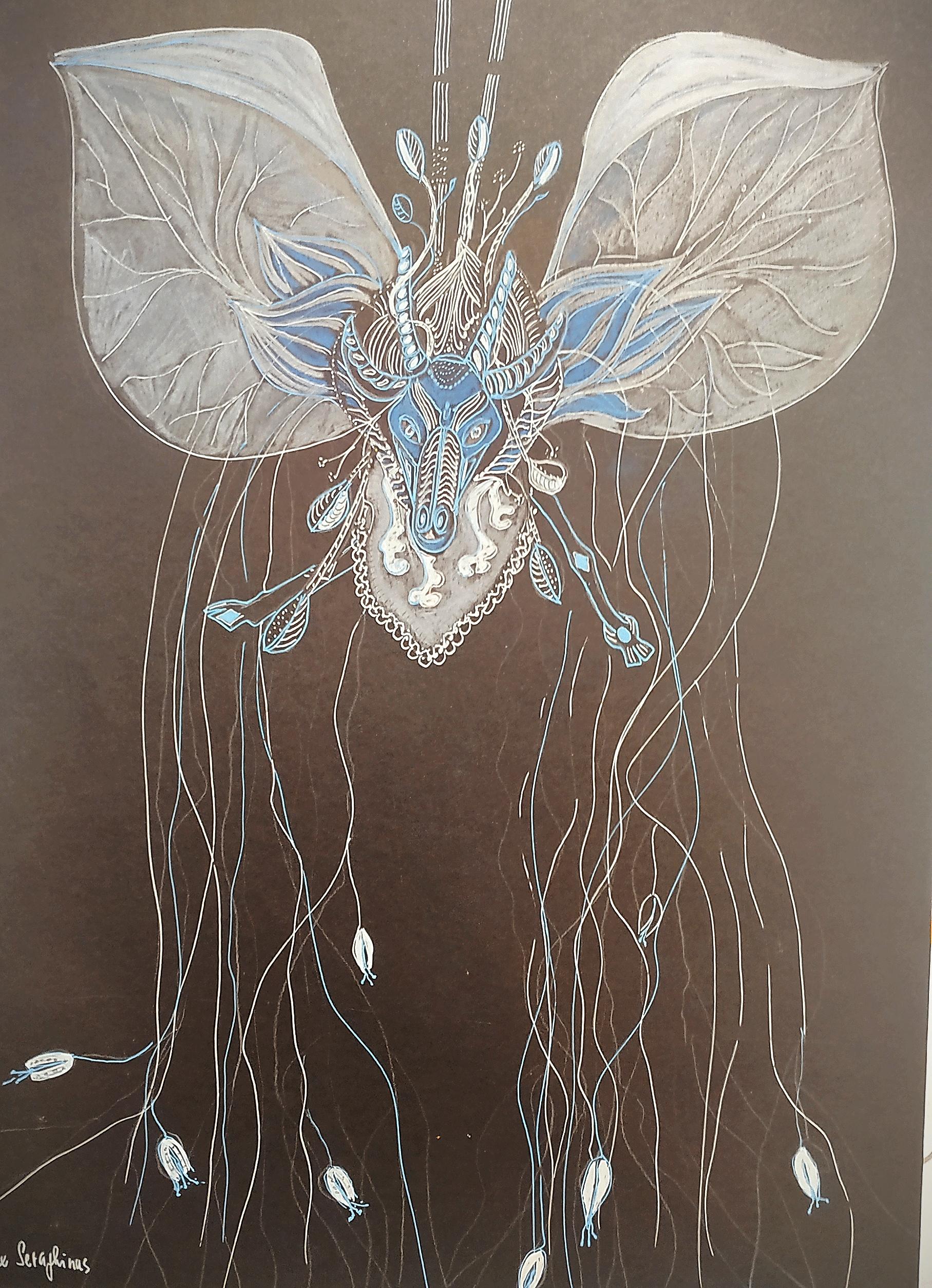 Anatomie chim�rique sur fond noir  cours de dessin