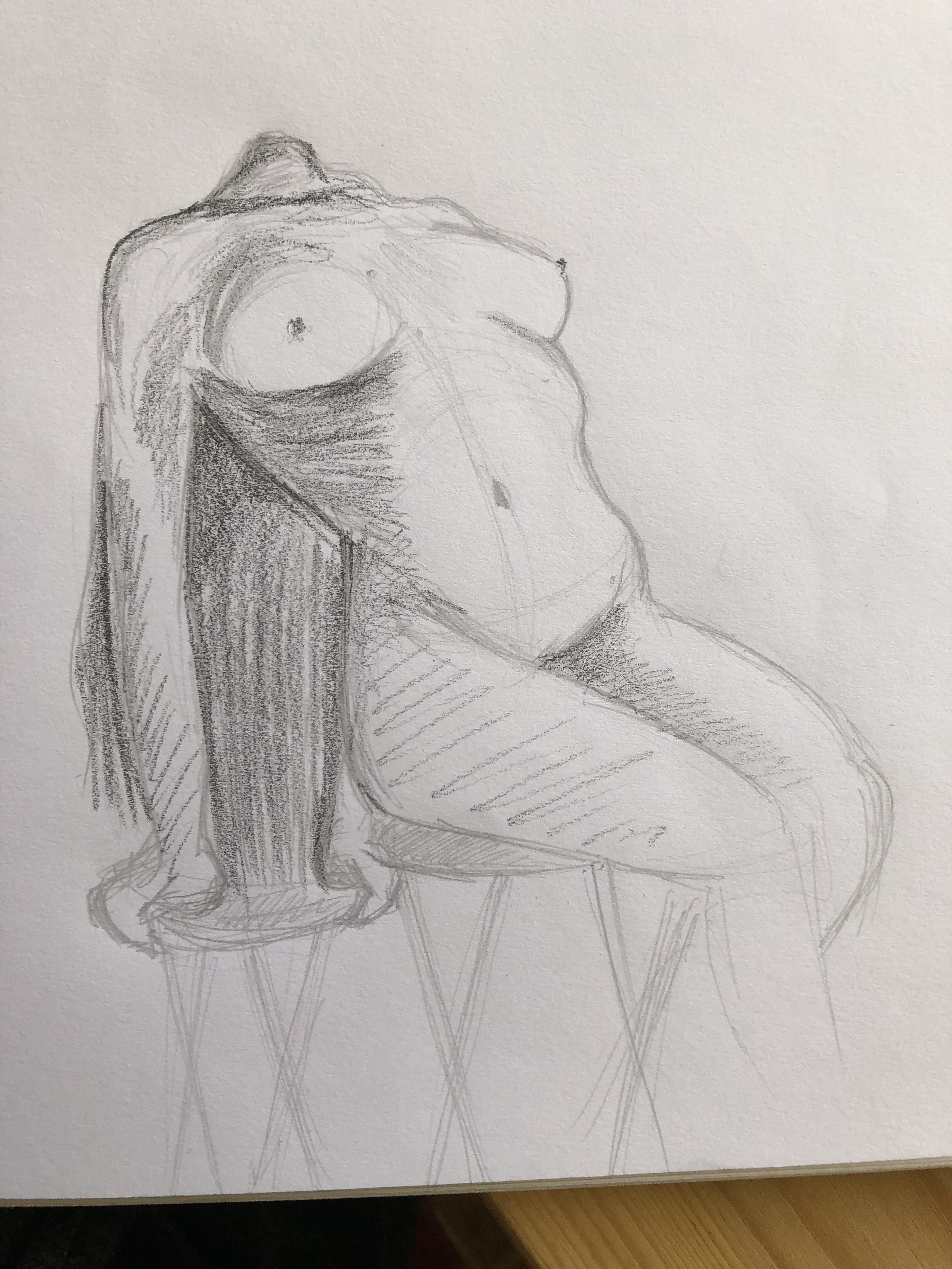 Dessin 3/4 Crayon papier  cours de dessin