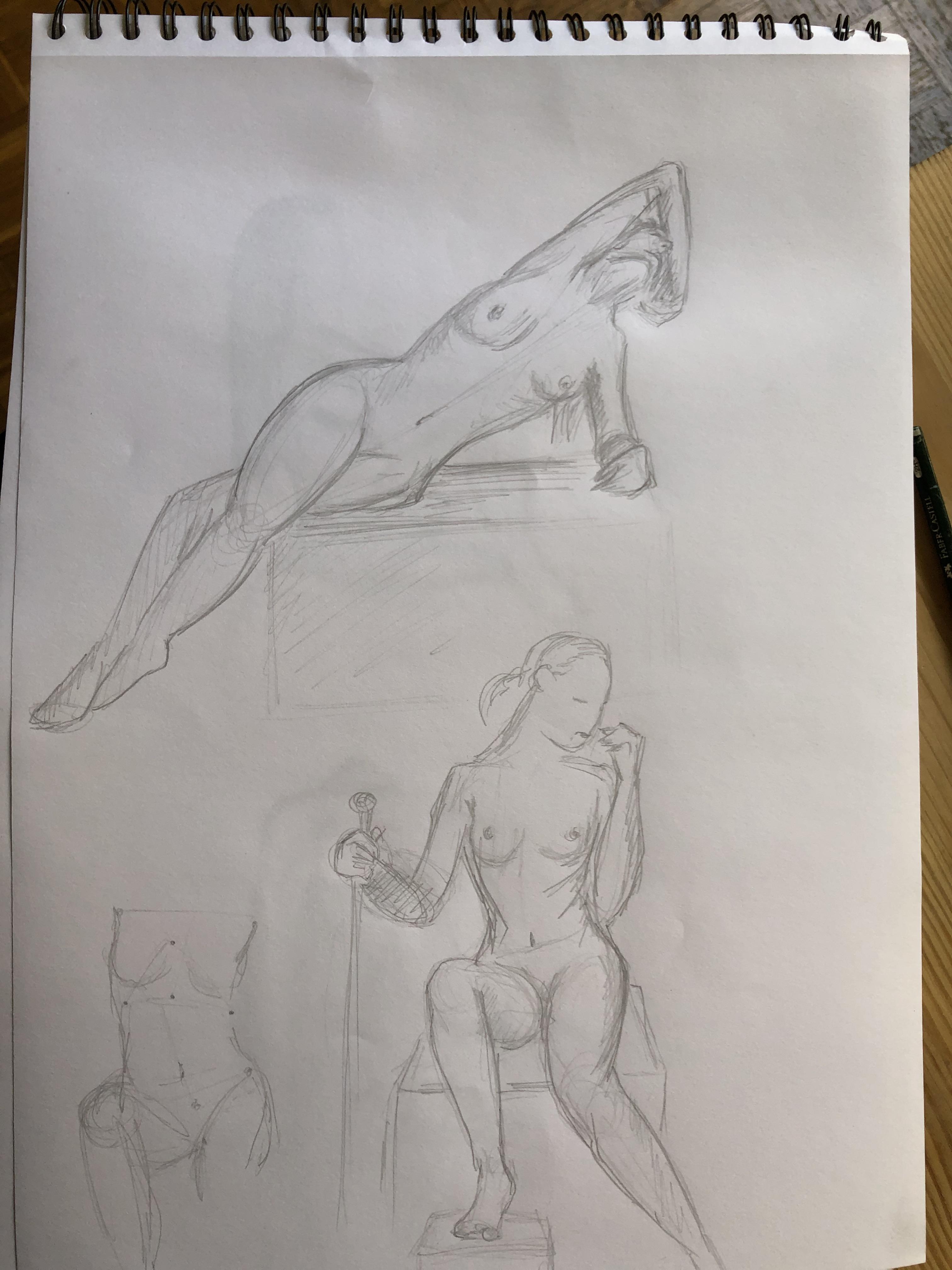 Carnet de croquis dessin  cours de dessin
