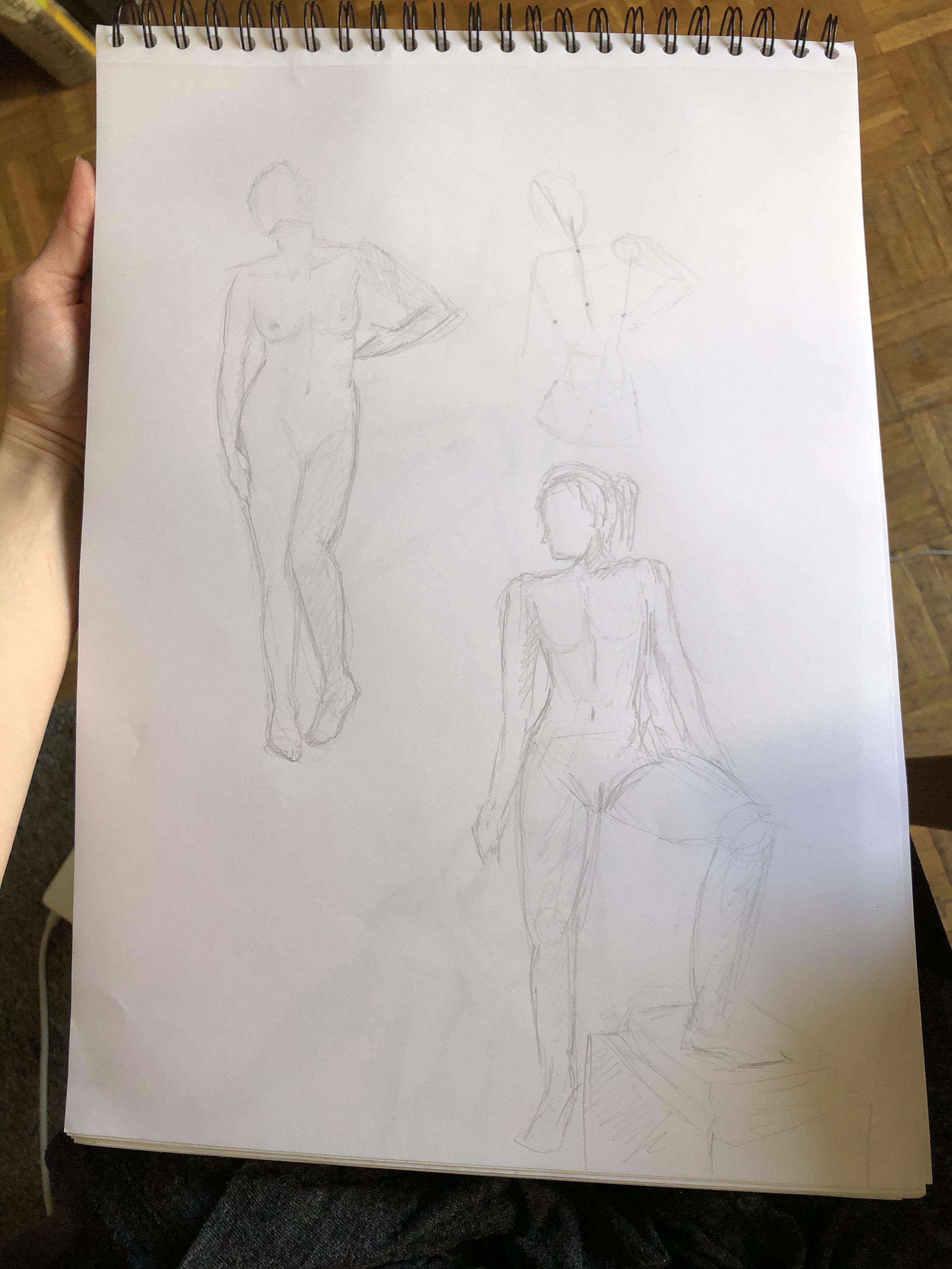 Esquisse rapide personnage  cours de dessin