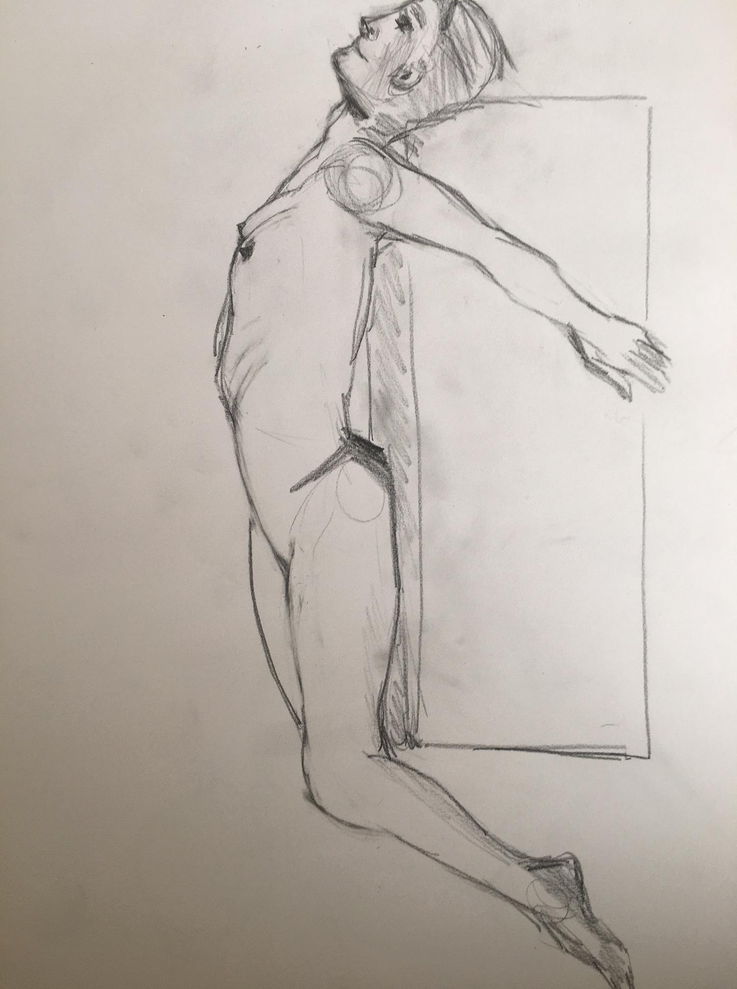 �bauche crayon papier hachures  cours de dessin