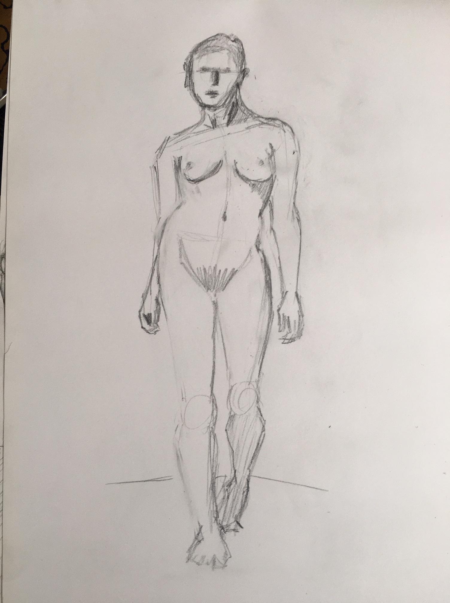 Croquis hachures D�hanch�  cours de dessin