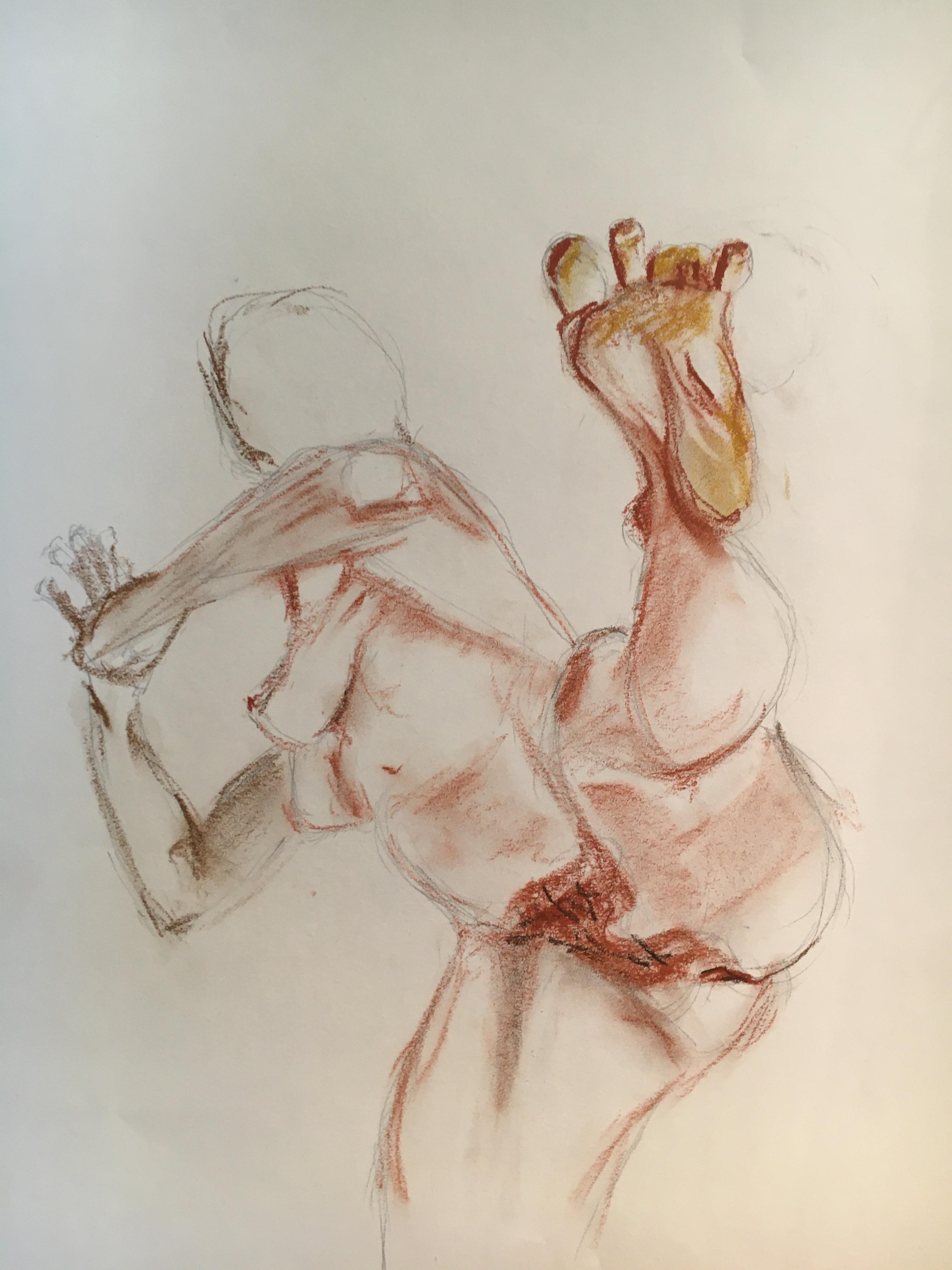 �bauche sanguine sur papier   cours de dessin