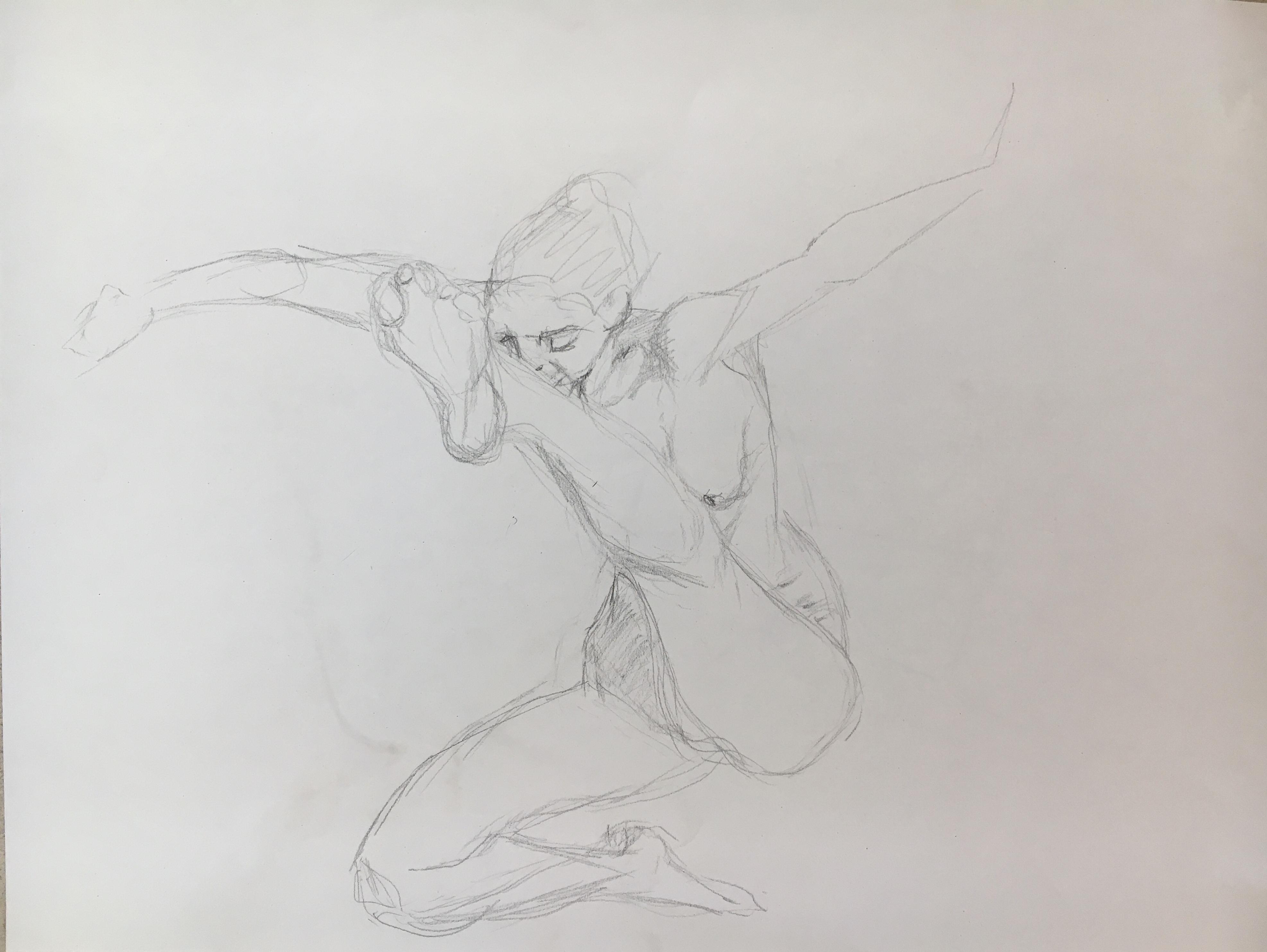 Dessin croquis crayon de papier sport  cours de dessin