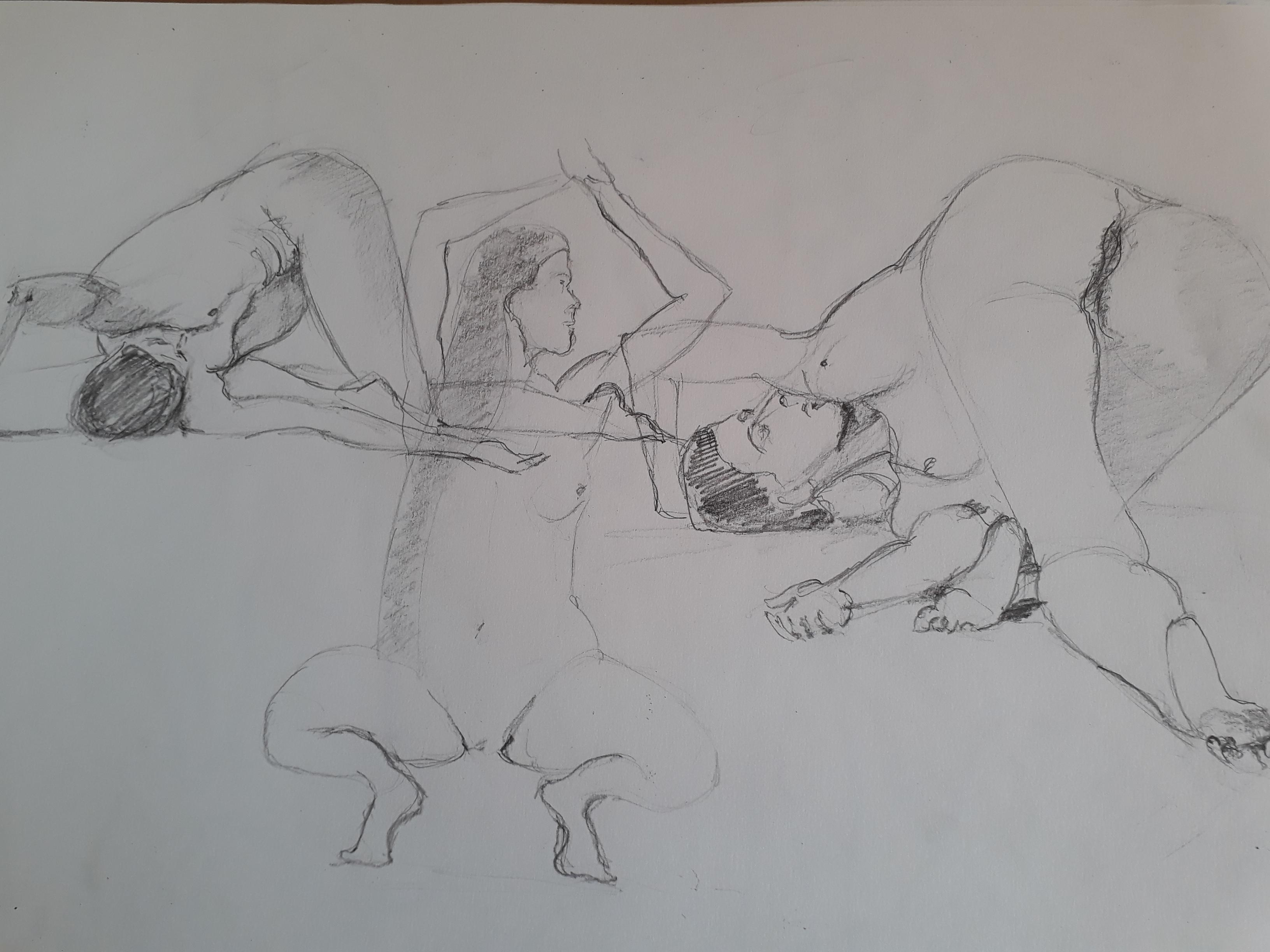 Planche de croquis rapide  cours de dessin