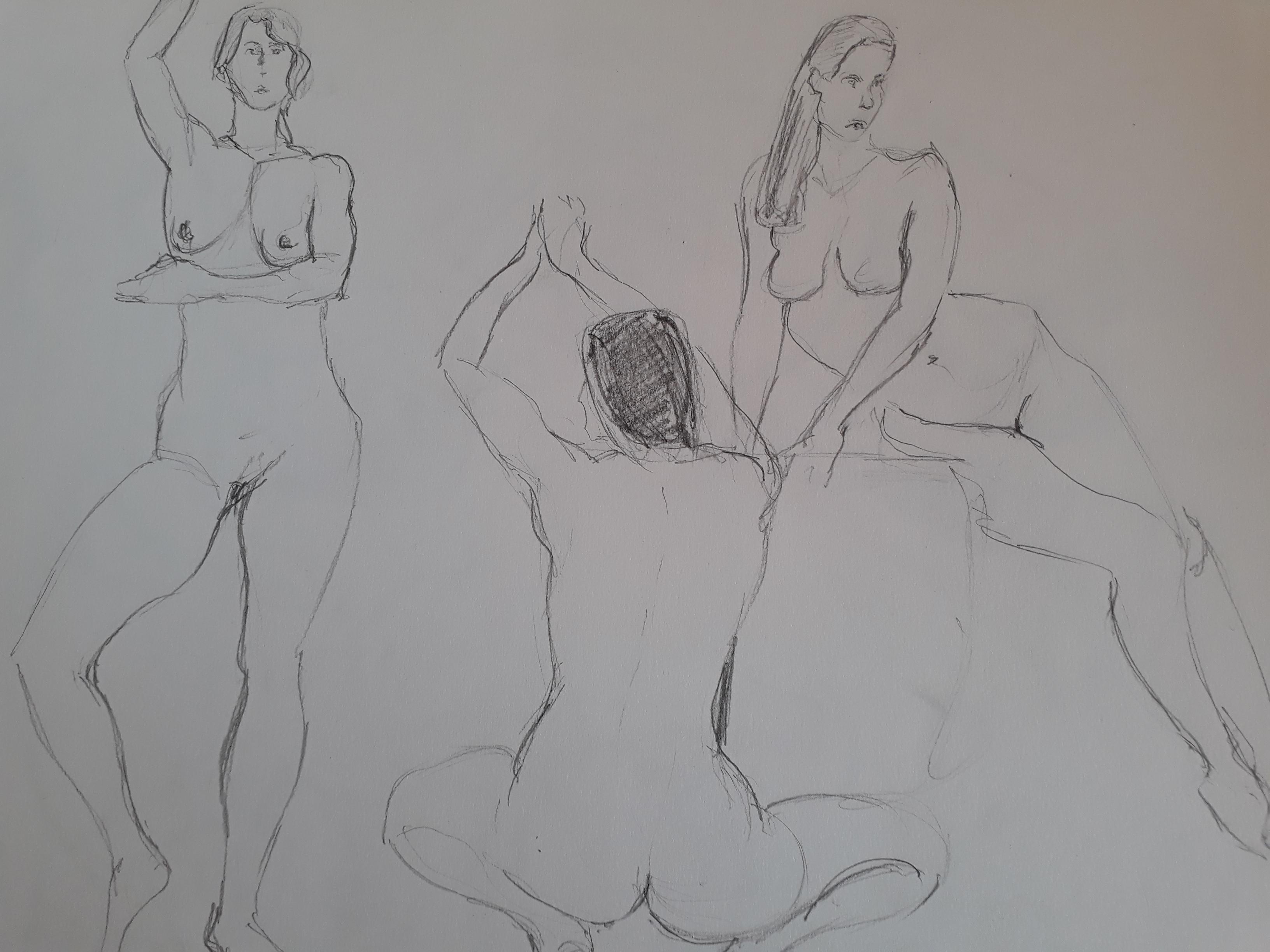 Esquisse rapide dessin femme  cours de dessin