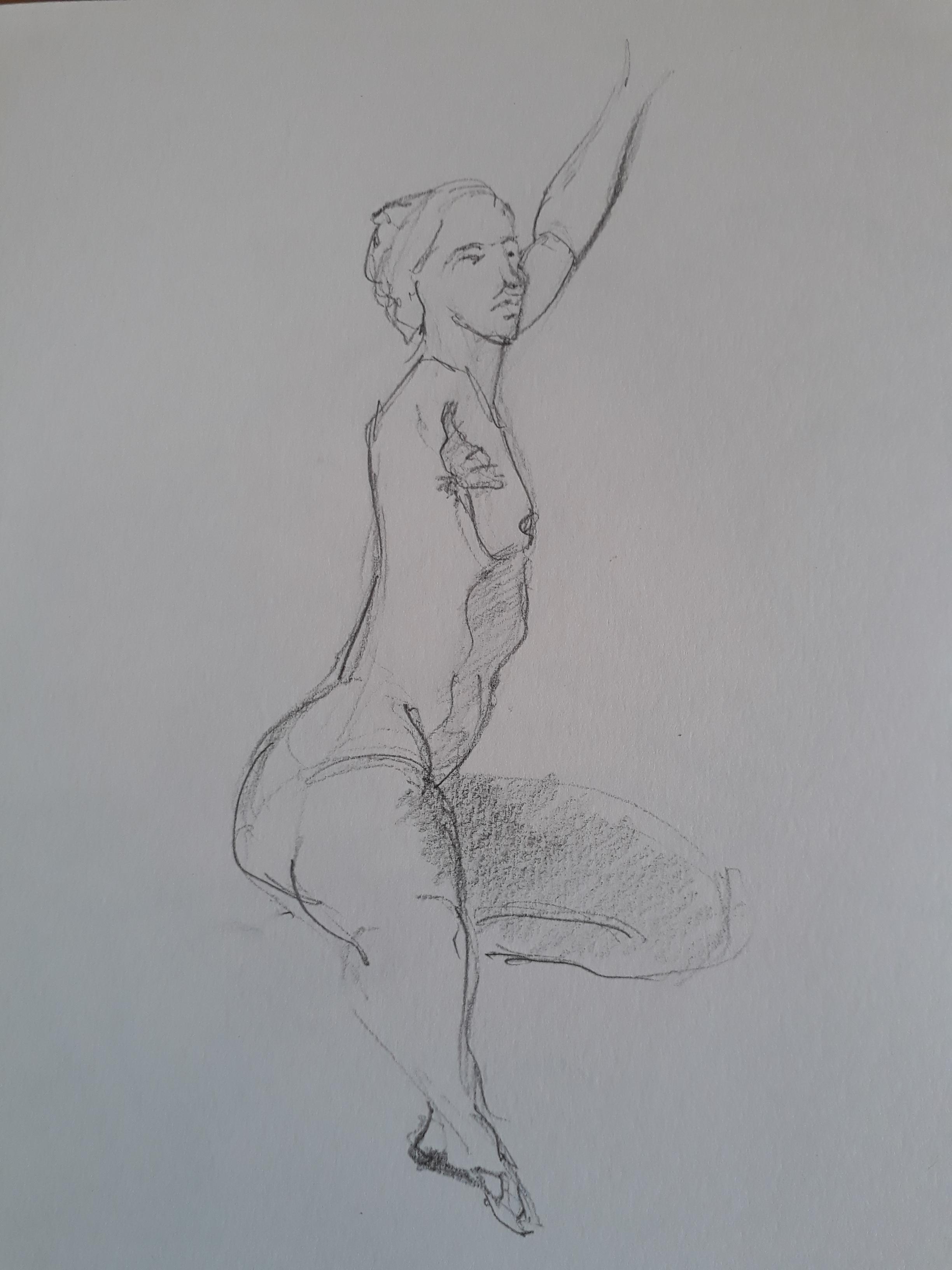 Croquis dessin en raccourci  cours de dessin