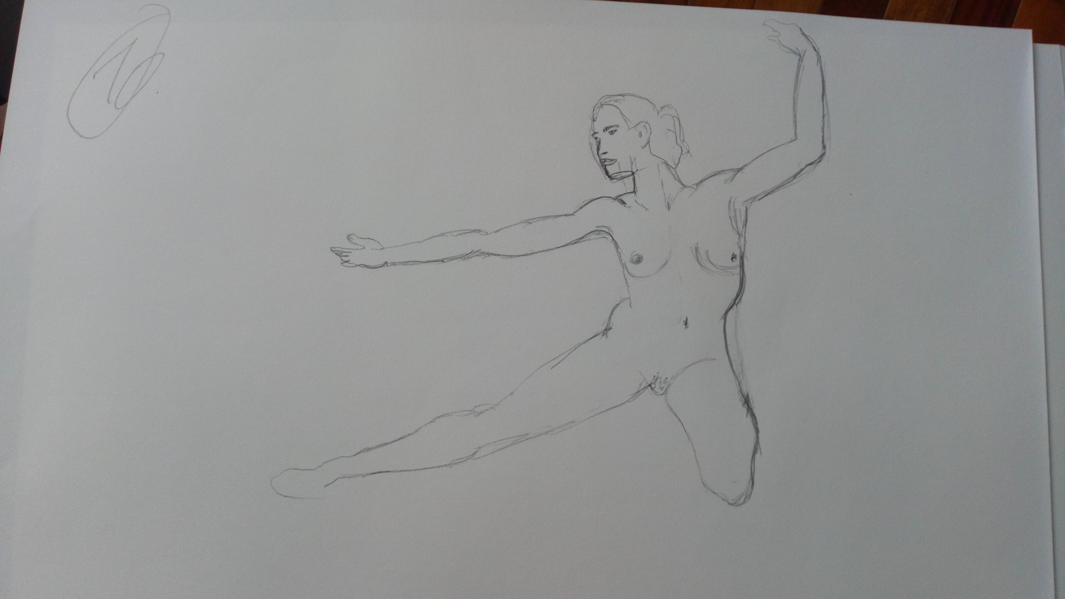 Danseuse mod�le vivant croquis rapide  cours de dessin