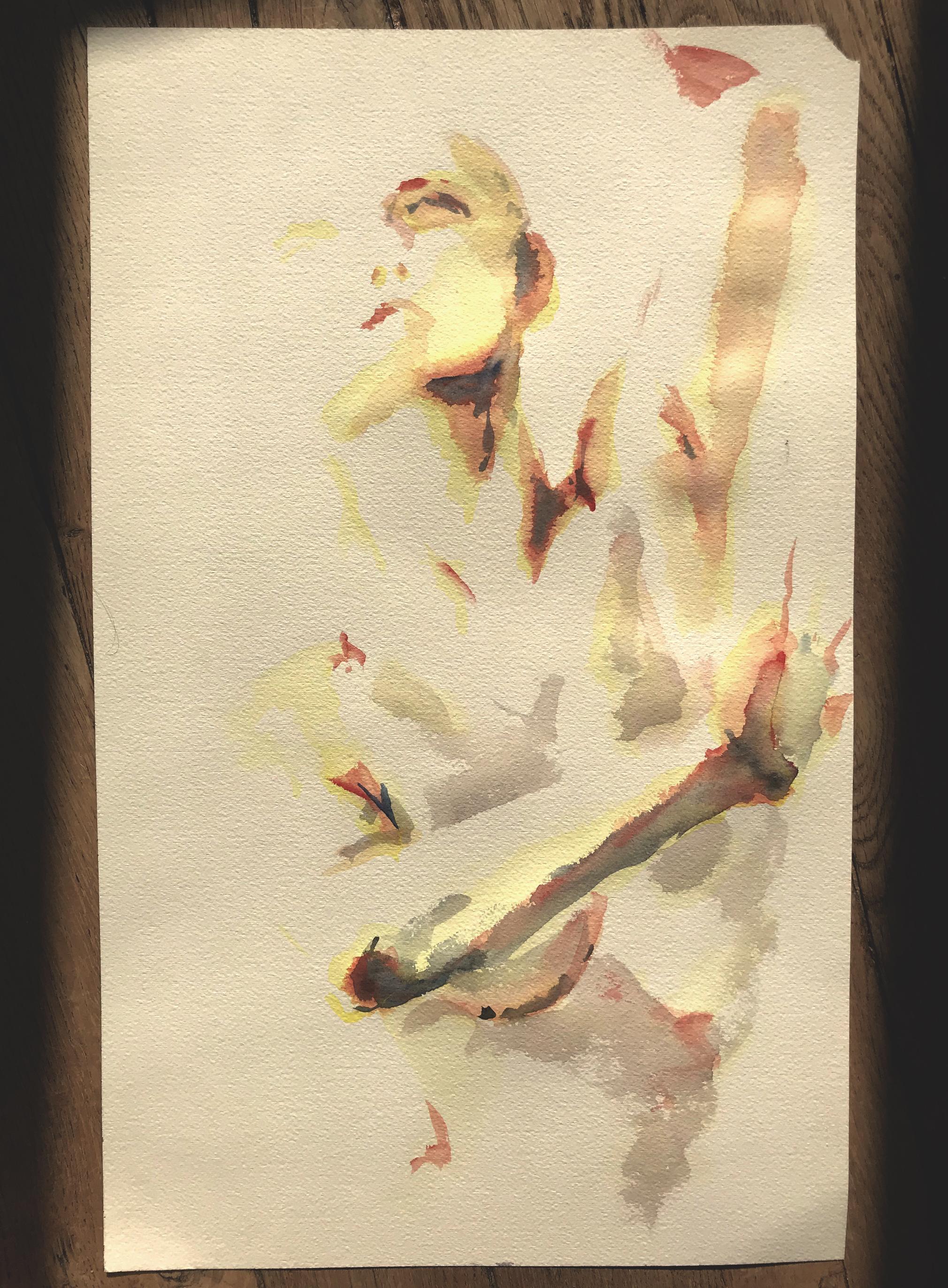Aquarelles portraits  cours de dessin