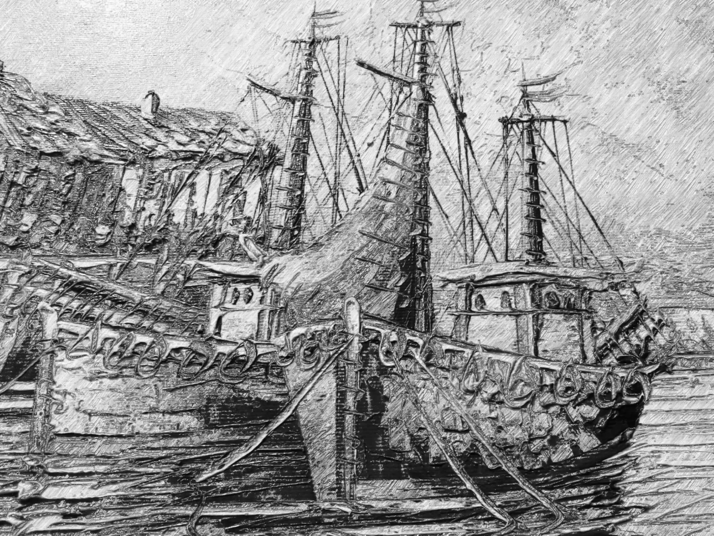 Dessin bateau  cours de dessin