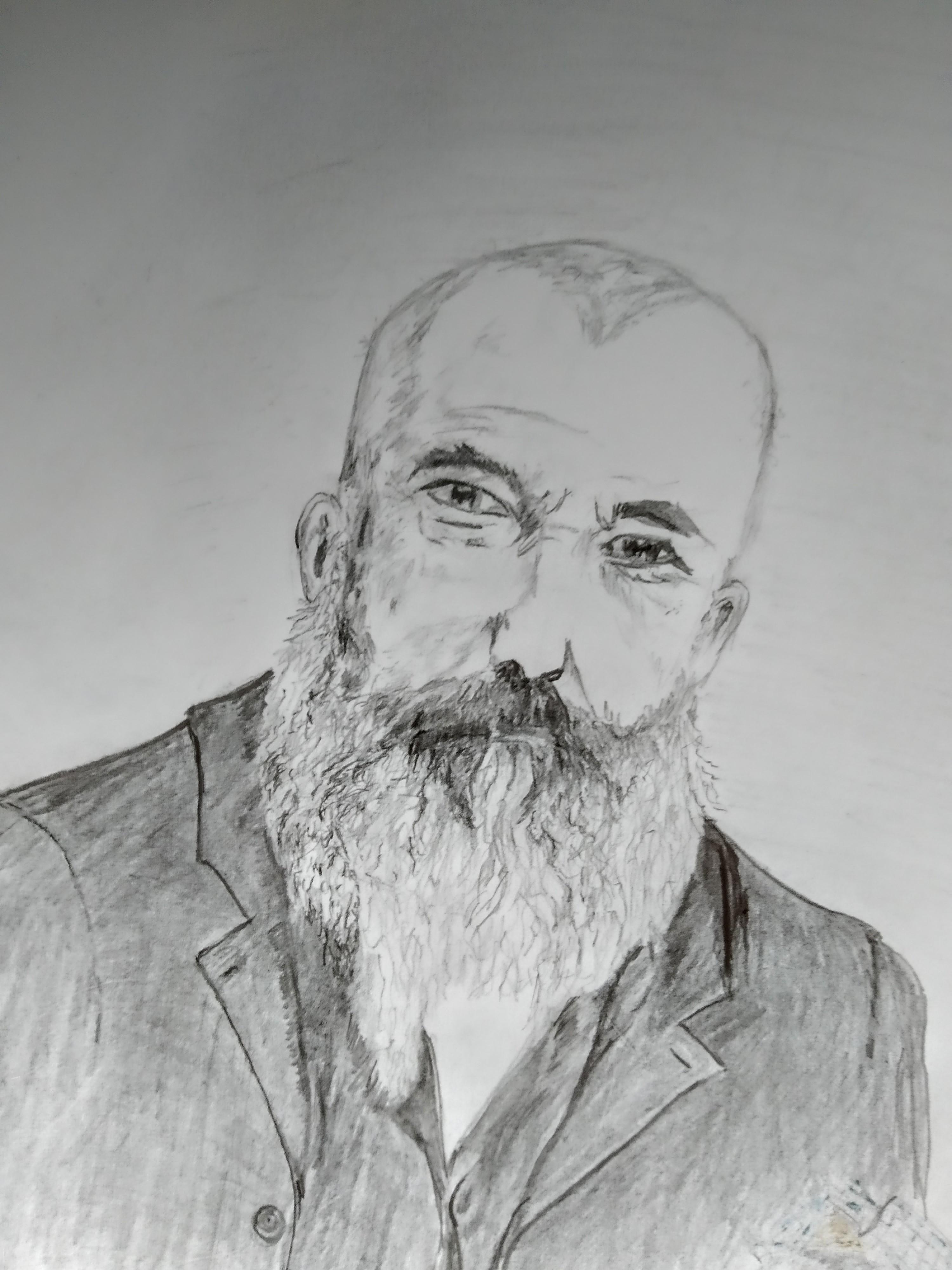 Portrait graphite  cours de dessin