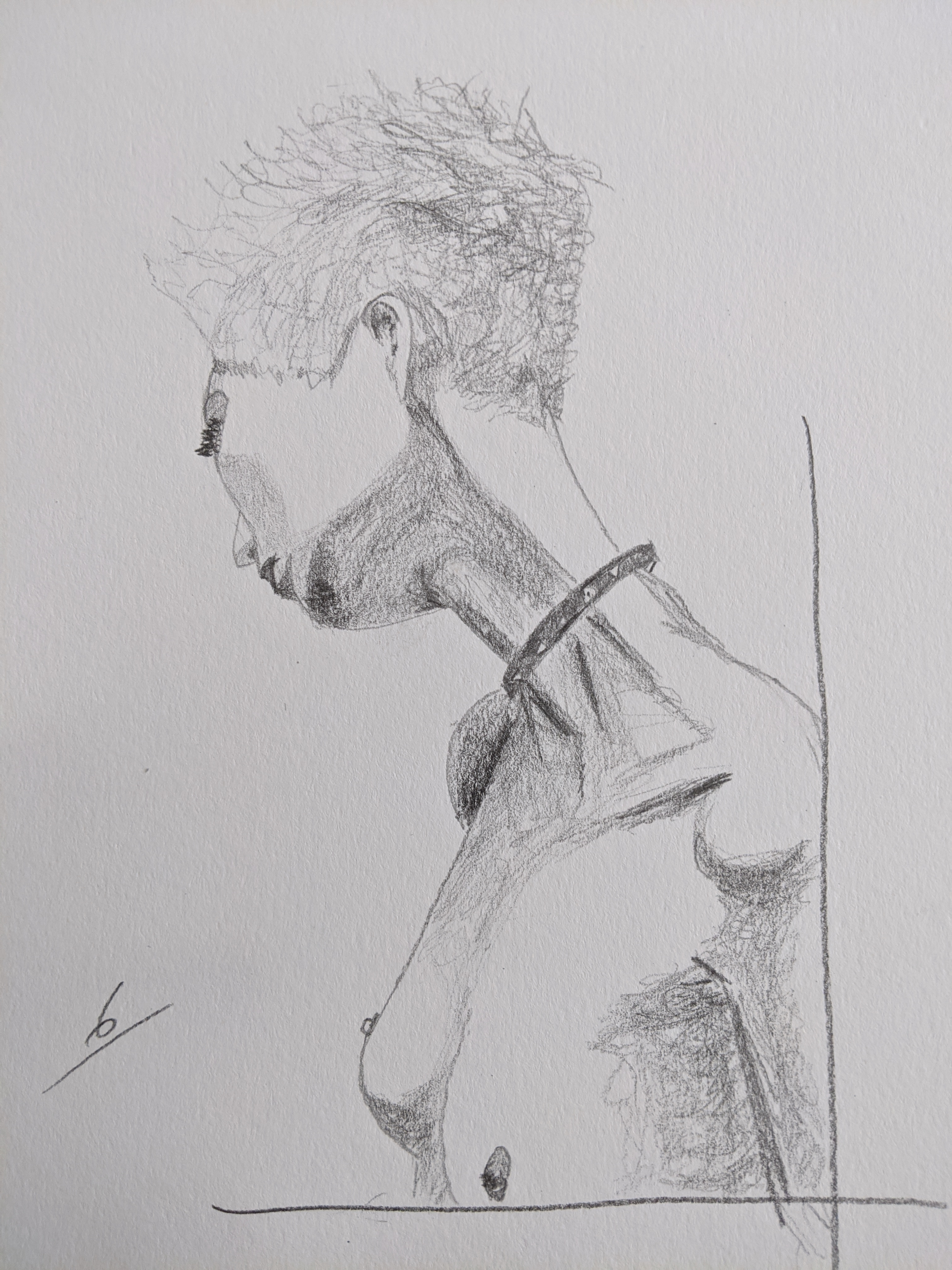 Portrait femme trois quarts dos  cours de dessin
