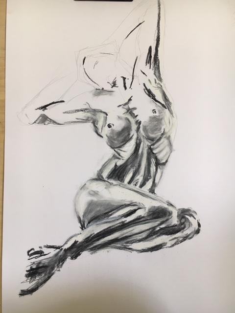 Esquisse crayon papier pastel sec estompe  cours de dessin