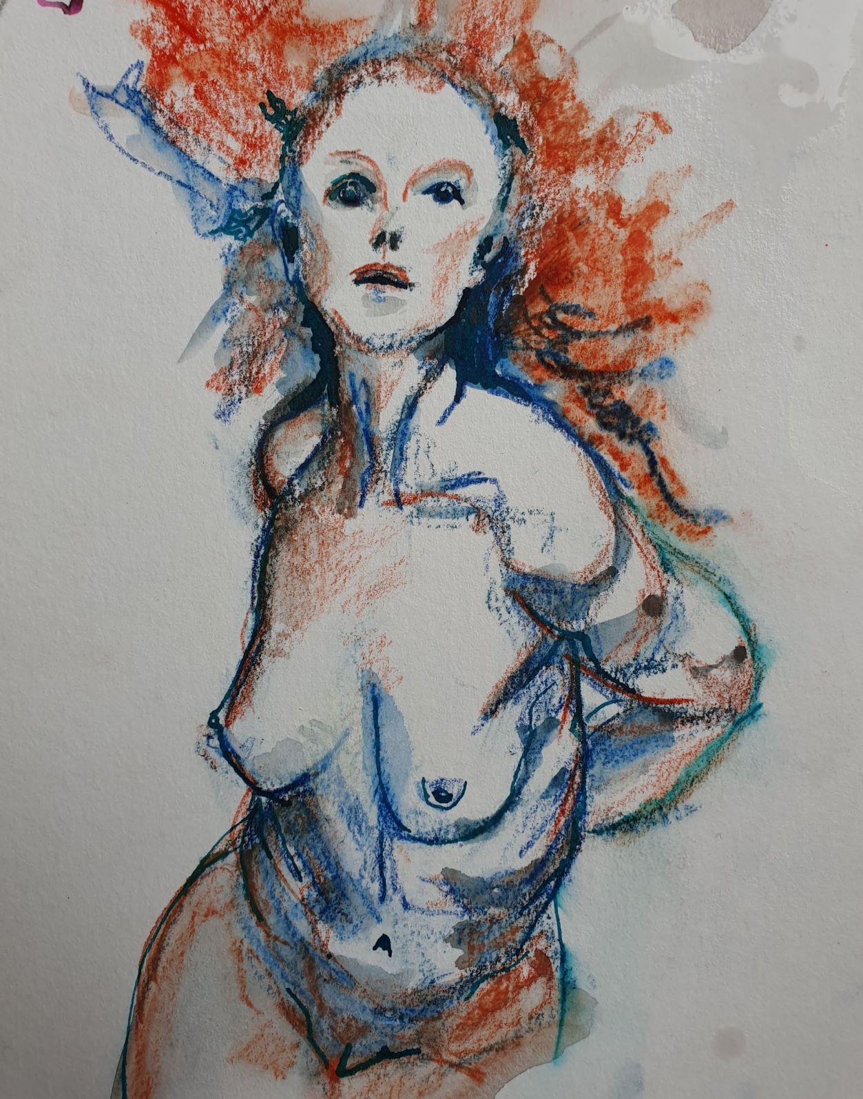 Pastel gras portraits  cours de dessin