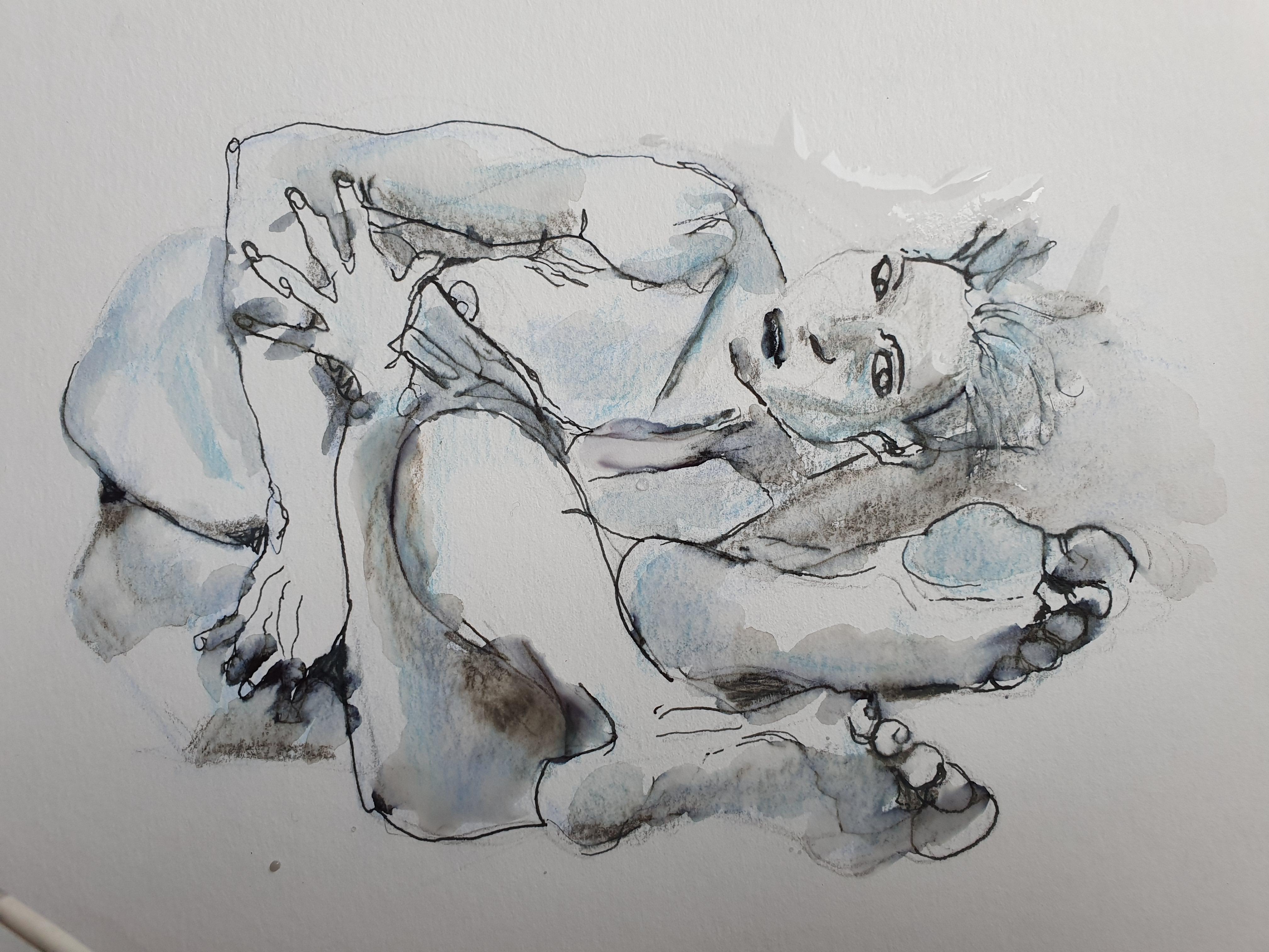 Dessins � la plume et � l'aquarelle  cours de dessin