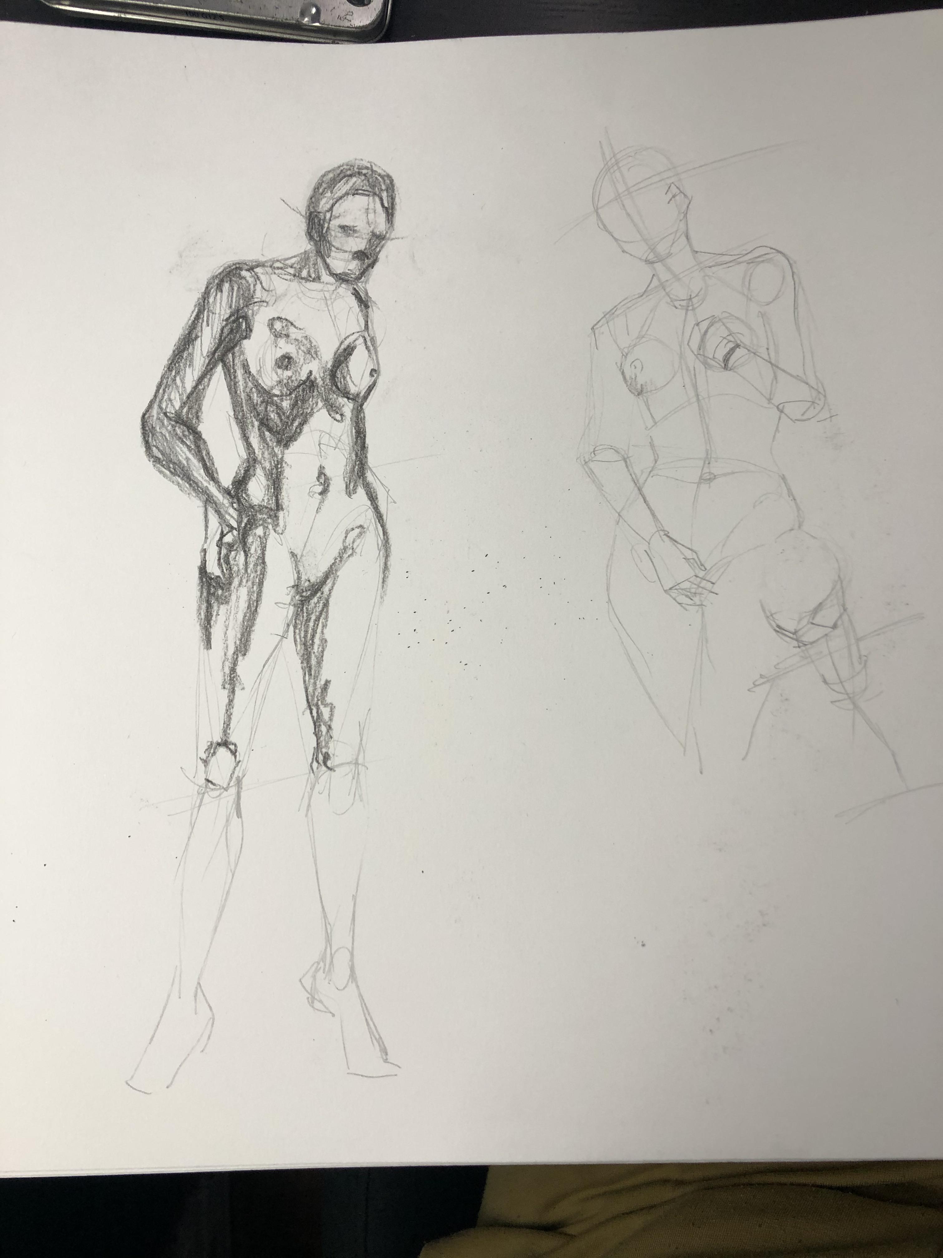�tude posture mod�le vivant dessin  cours de dessin