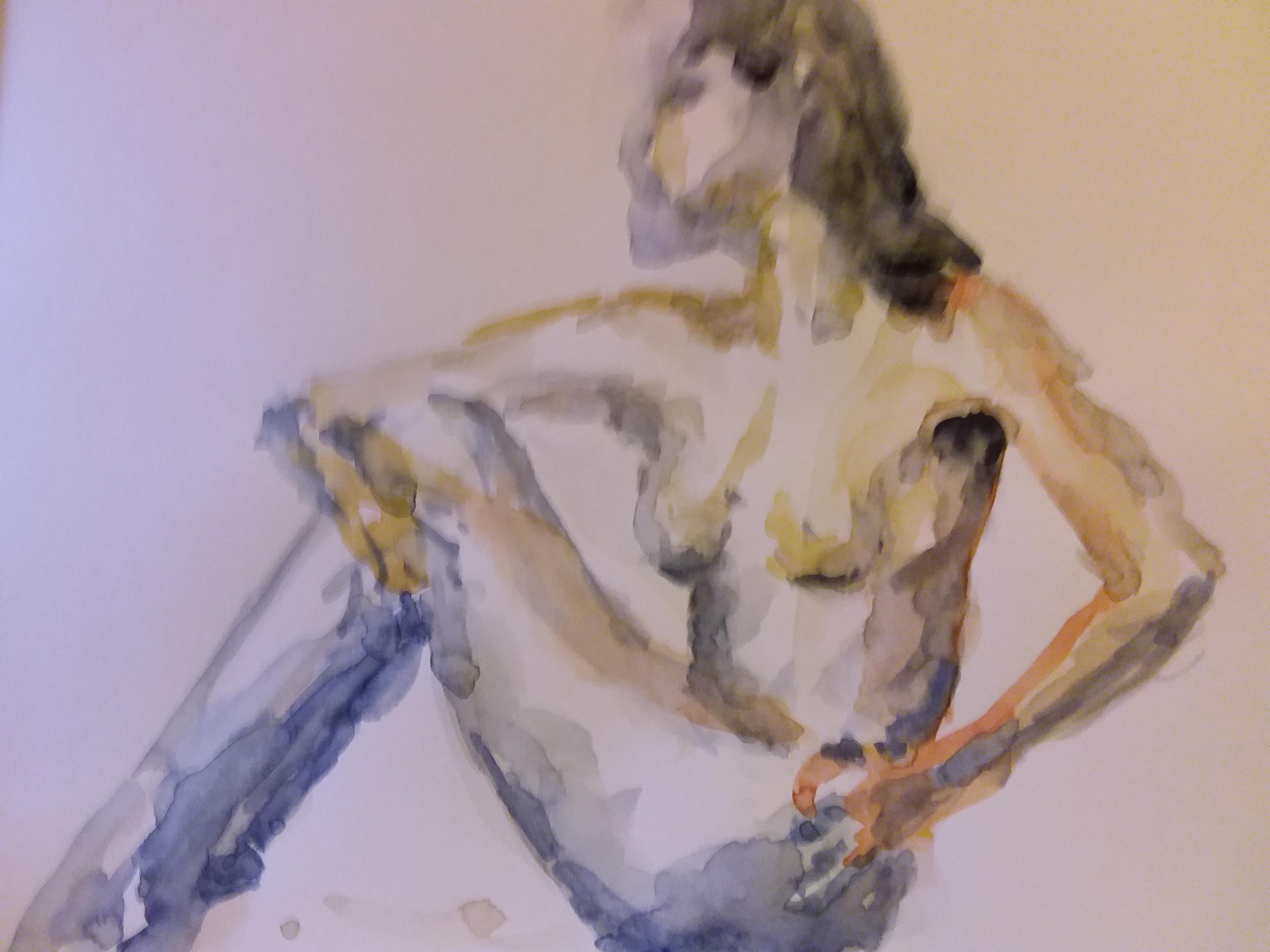Aquarelle assi polychromes sur papier  cours de dessin