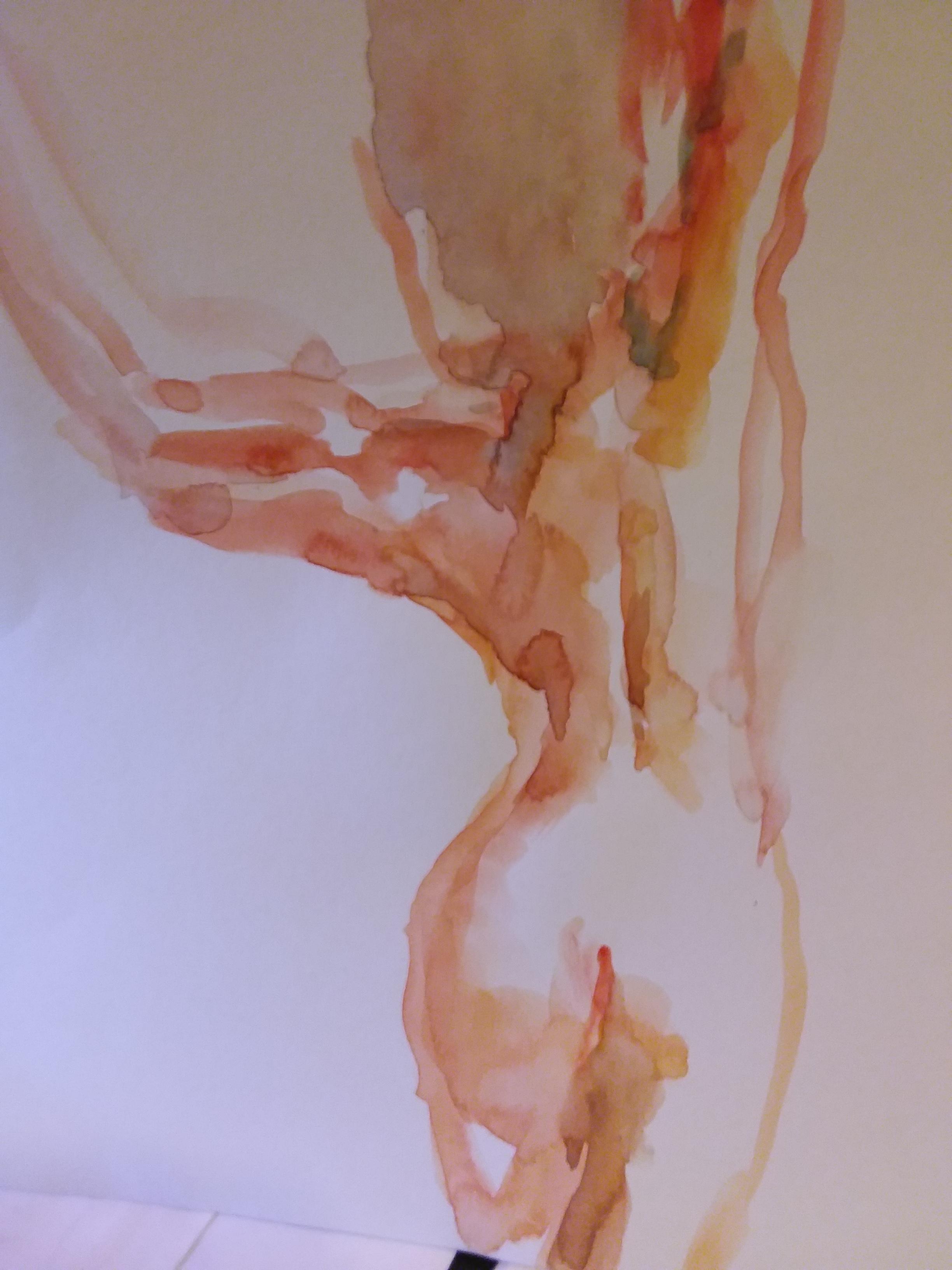 Esquisse aquarelles dos  cours de dessin