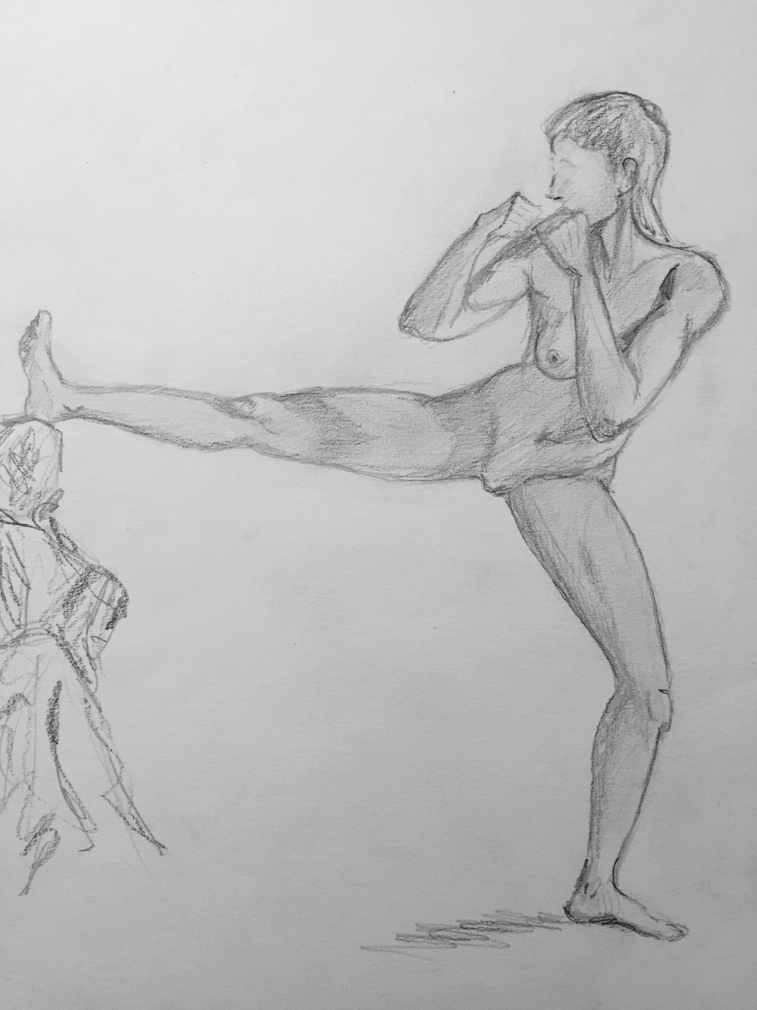 Étude du mouvement corps humain dessin  cours de dessin
