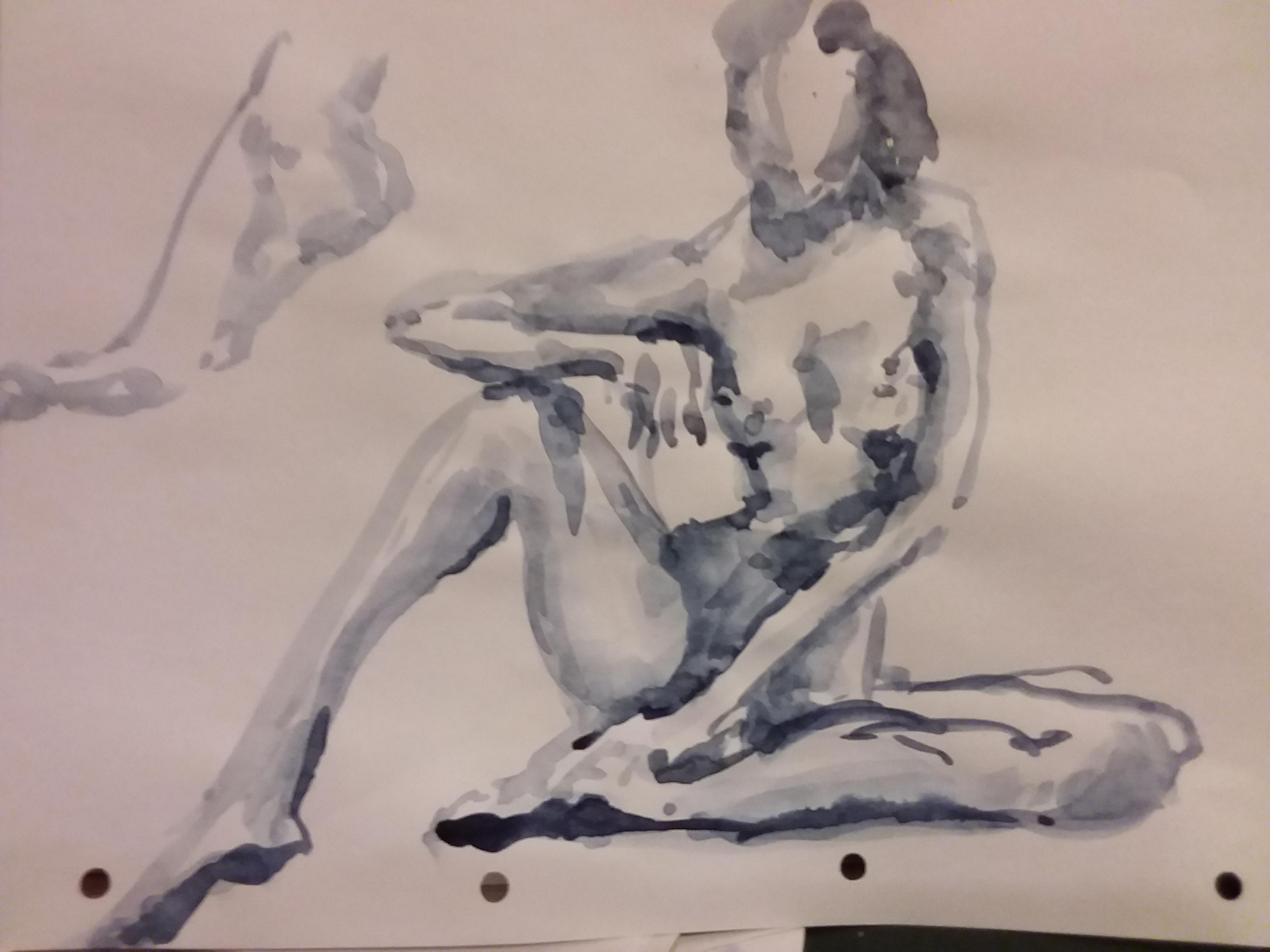 Croquis aquarelle Suzanne  cours de dessin