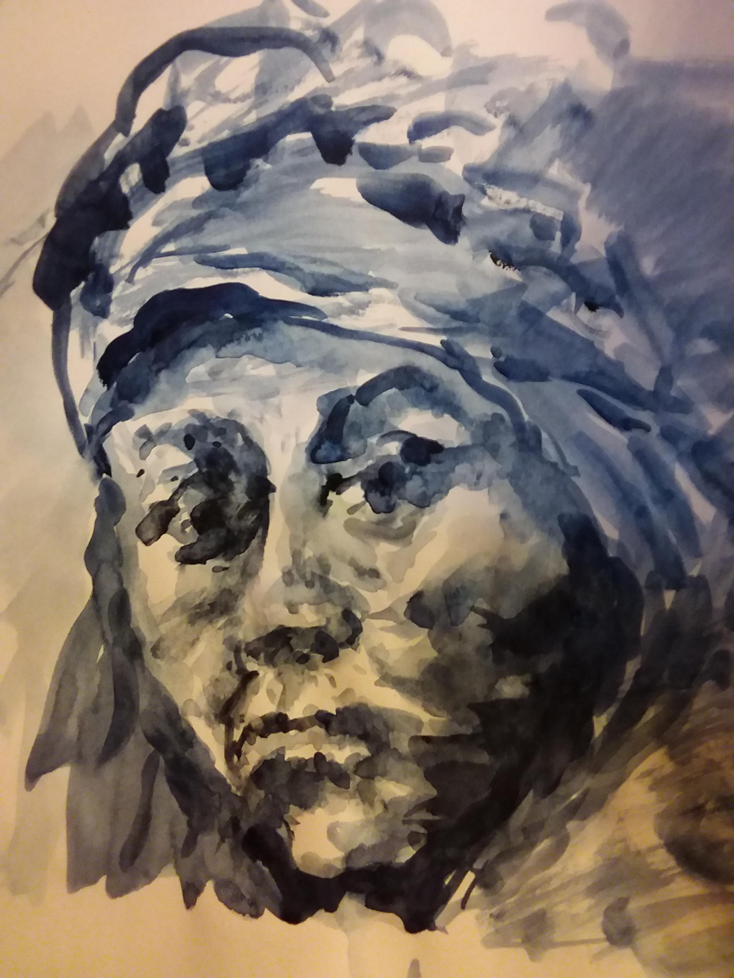 Portrait aquarelles femmes sur papier  cours de dessin