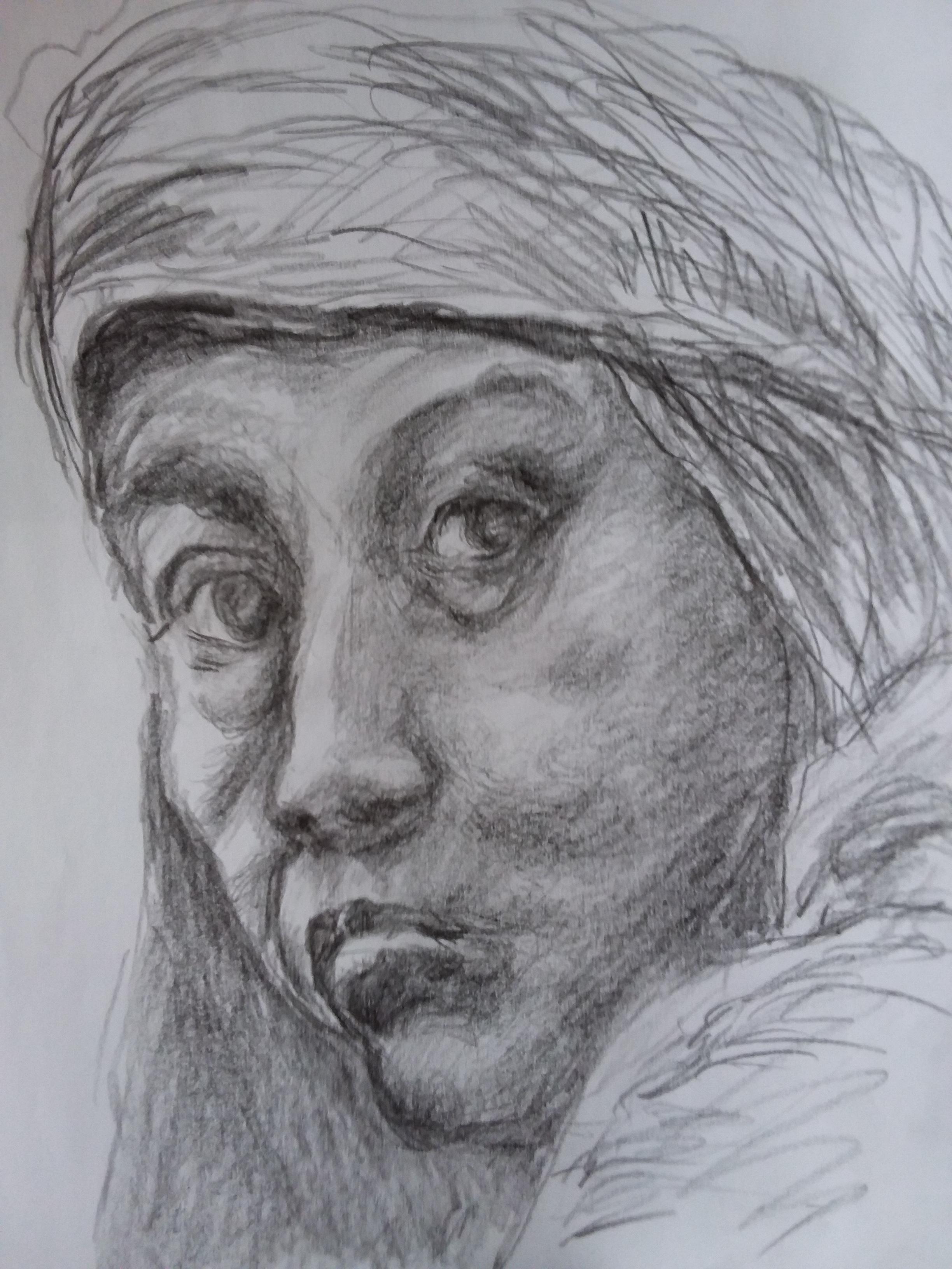 Portraits au crayon de papier 3/4 face  cours de dessin