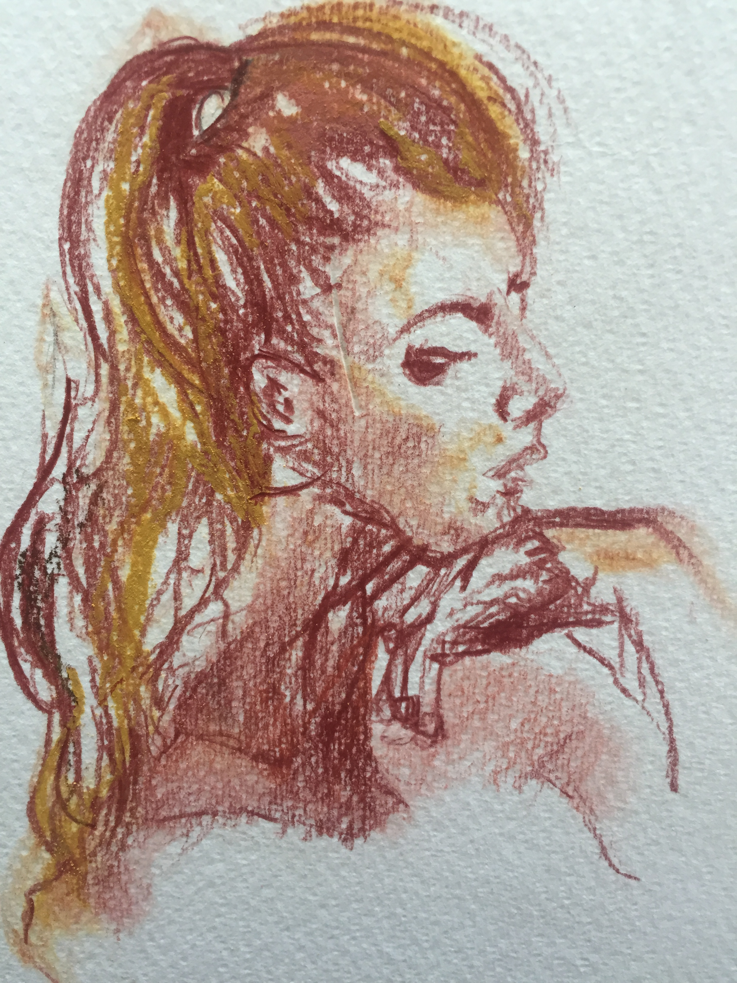 Portraits sanguines pastels  cours de dessin