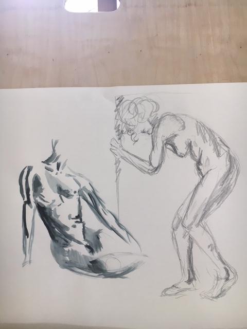 �tude croquis crayon papier feutre  cours de dessin