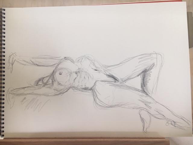 Croquis hachures graphite sur papier  cours de dessin