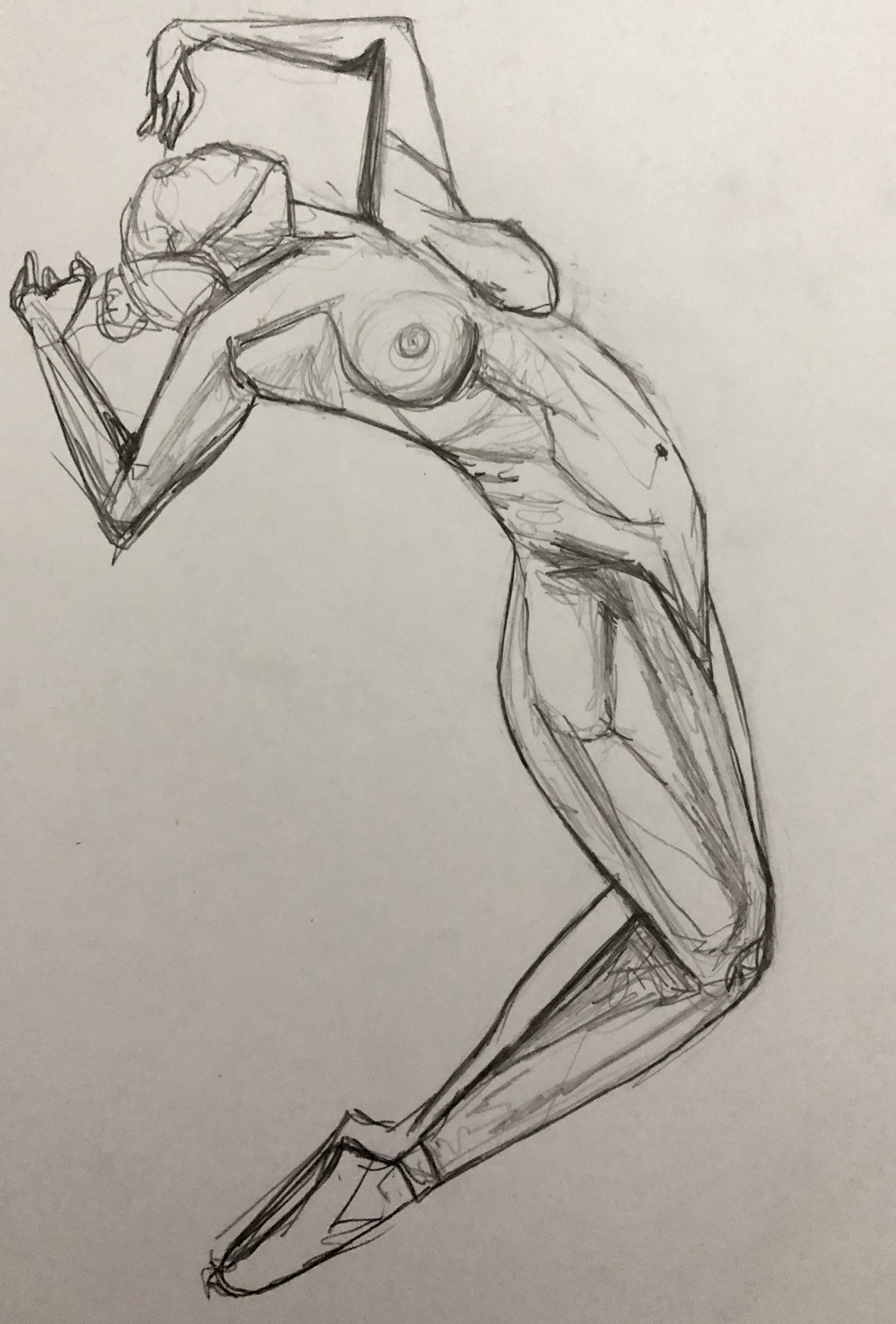 corps femme dessin danceuse   cours de dessin