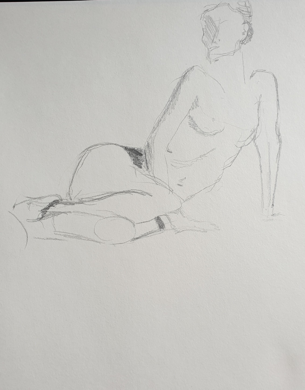 croquis rapide ebauche graphite sur papier  cours de dessin