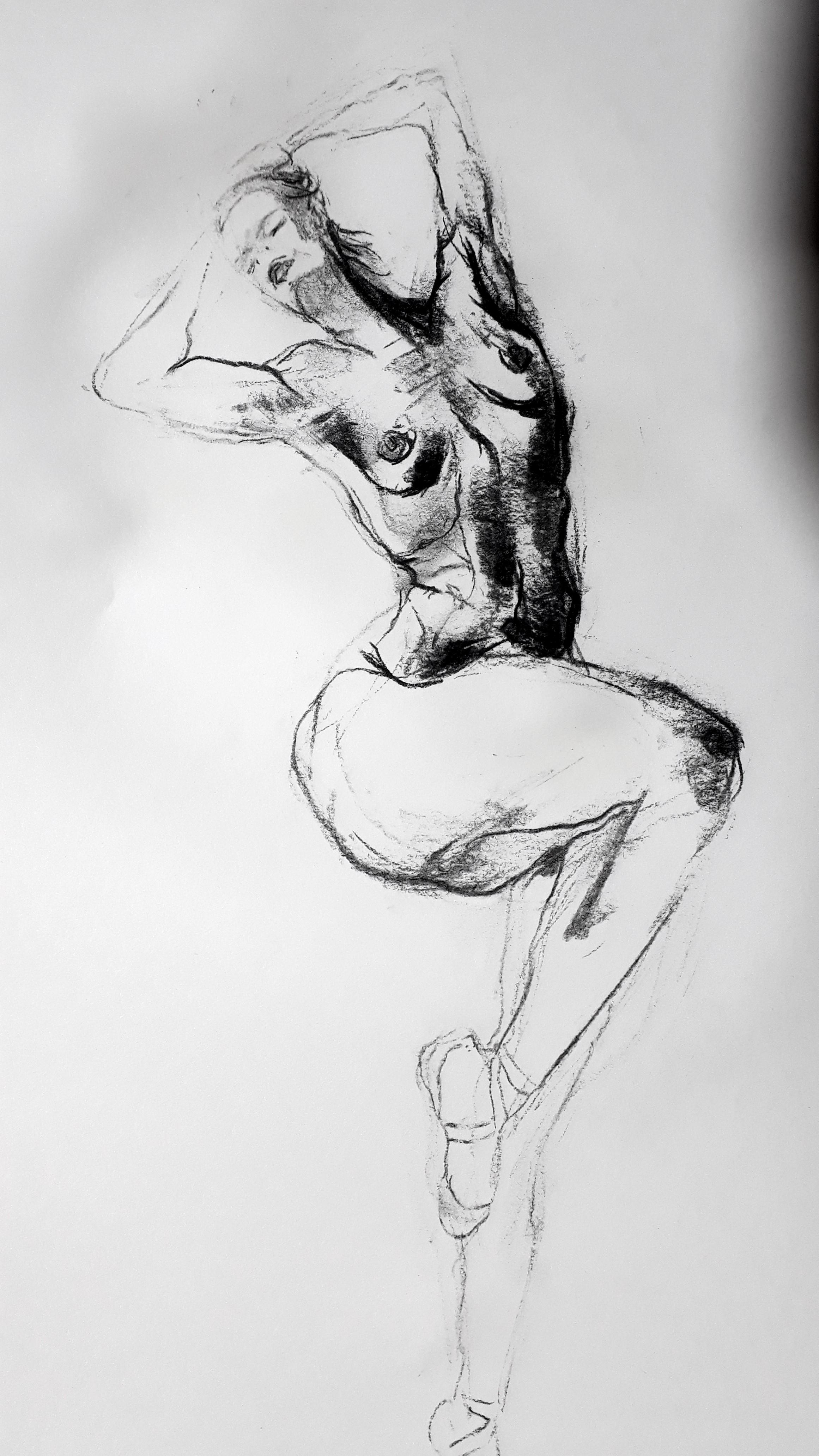 danseuse dessin fusain papier  cours de dessin